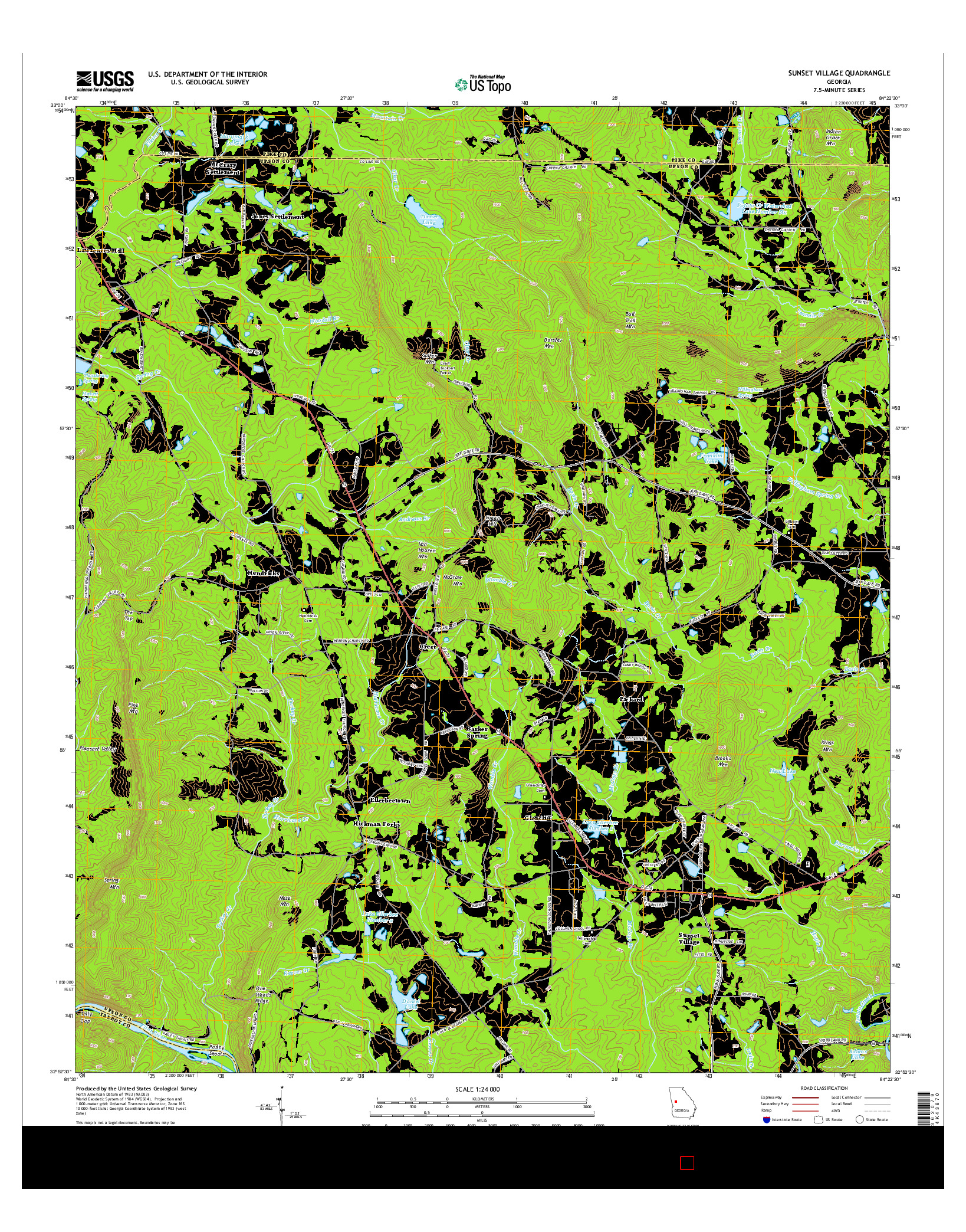 USGS US TOPO 7.5-MINUTE MAP FOR SUNSET VILLAGE, GA 2014