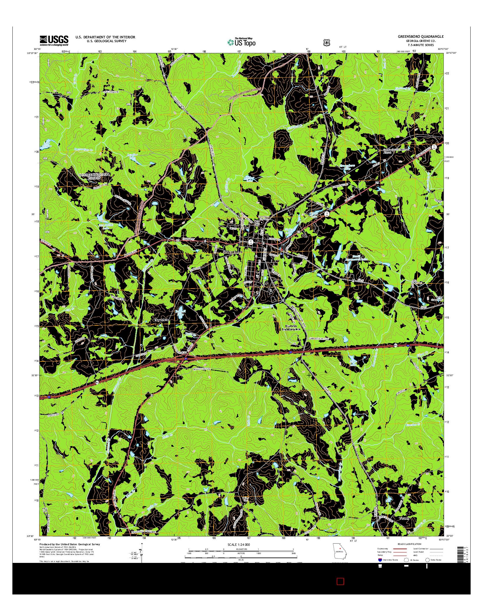 USGS US TOPO 7.5-MINUTE MAP FOR GREENSBORO, GA 2014