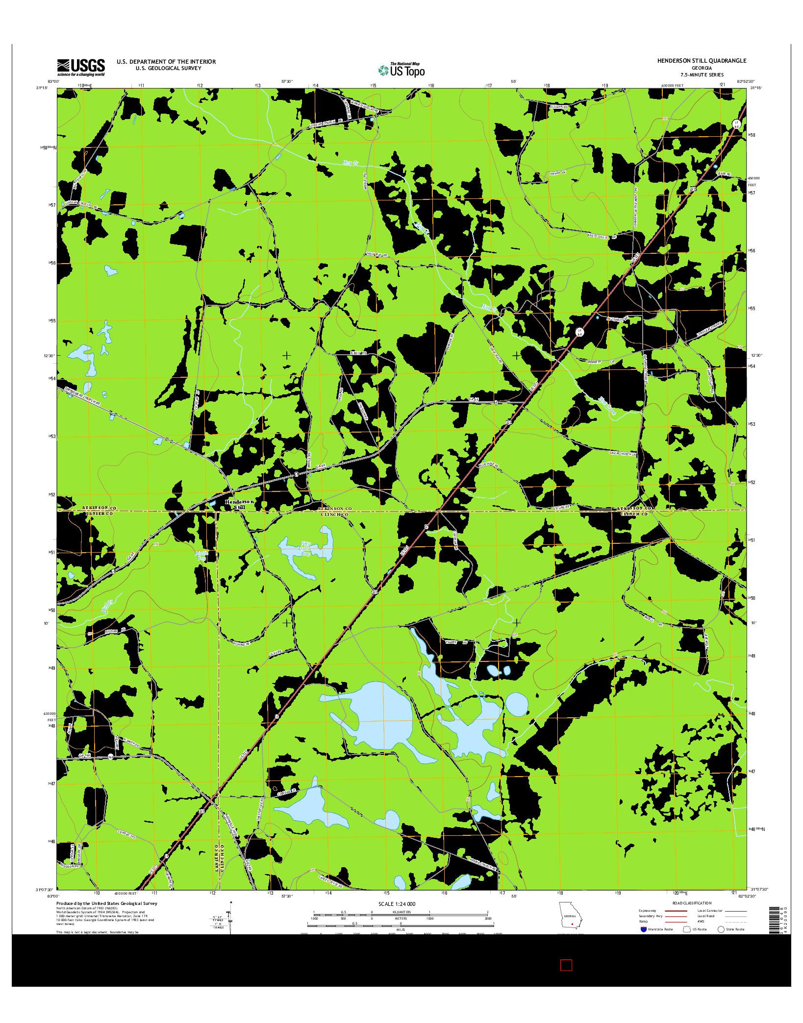 USGS US TOPO 7.5-MINUTE MAP FOR HENDERSON STILL, GA 2014