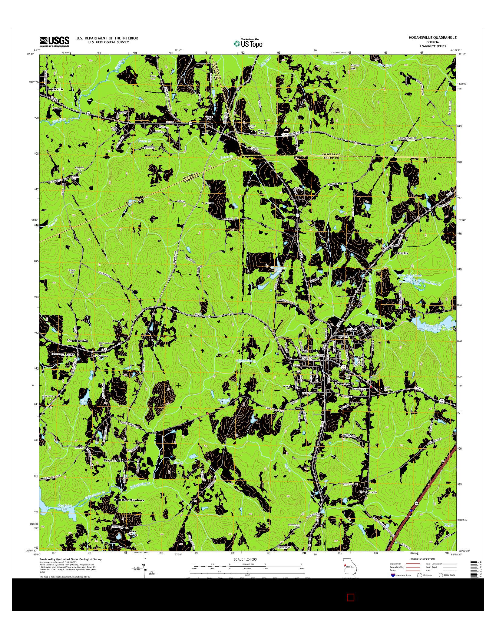 USGS US TOPO 7.5-MINUTE MAP FOR HOGANSVILLE, GA 2014
