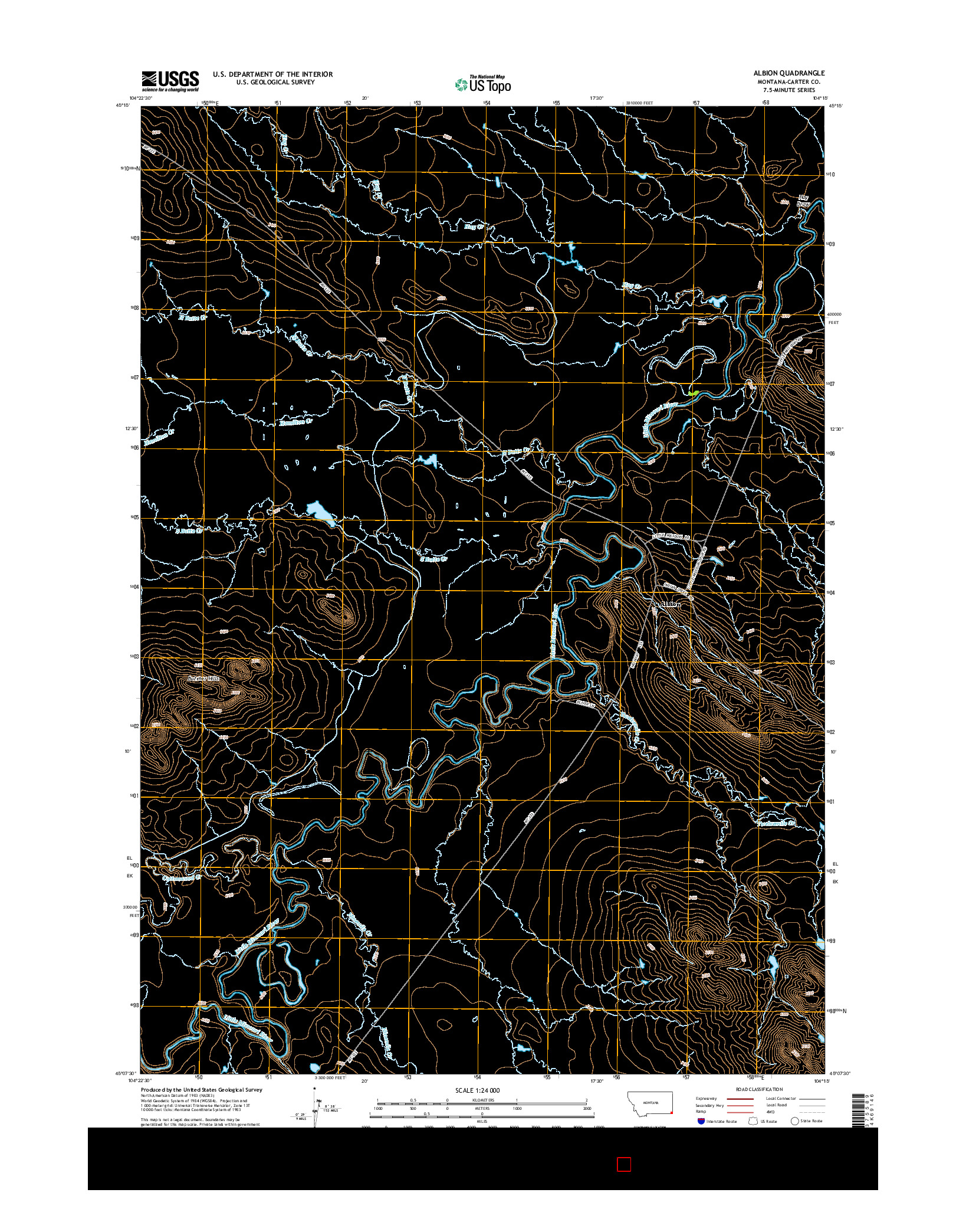 USGS US TOPO 7.5-MINUTE MAP FOR ALBION, MT 2014