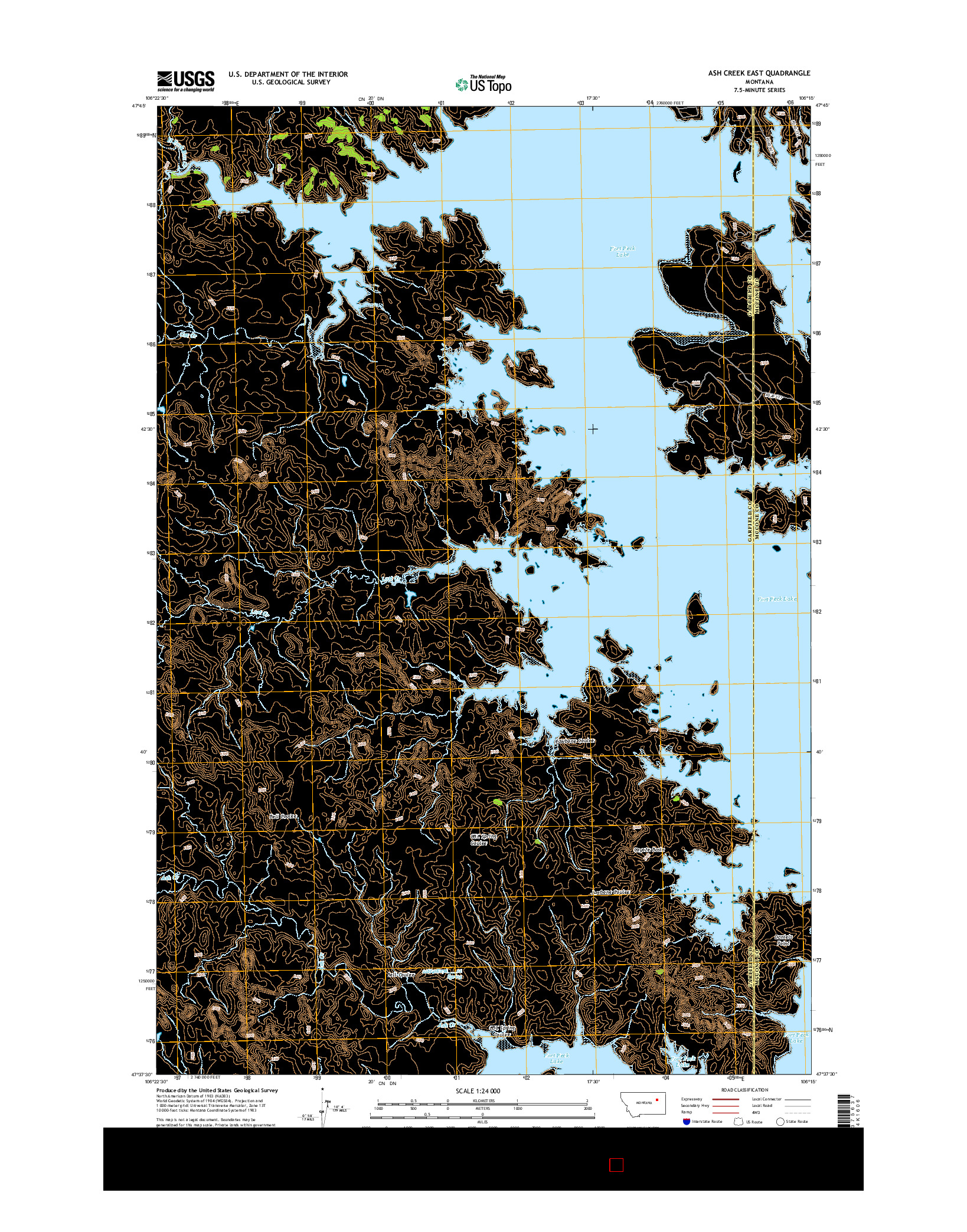USGS US TOPO 7.5-MINUTE MAP FOR ASH CREEK EAST, MT 2014