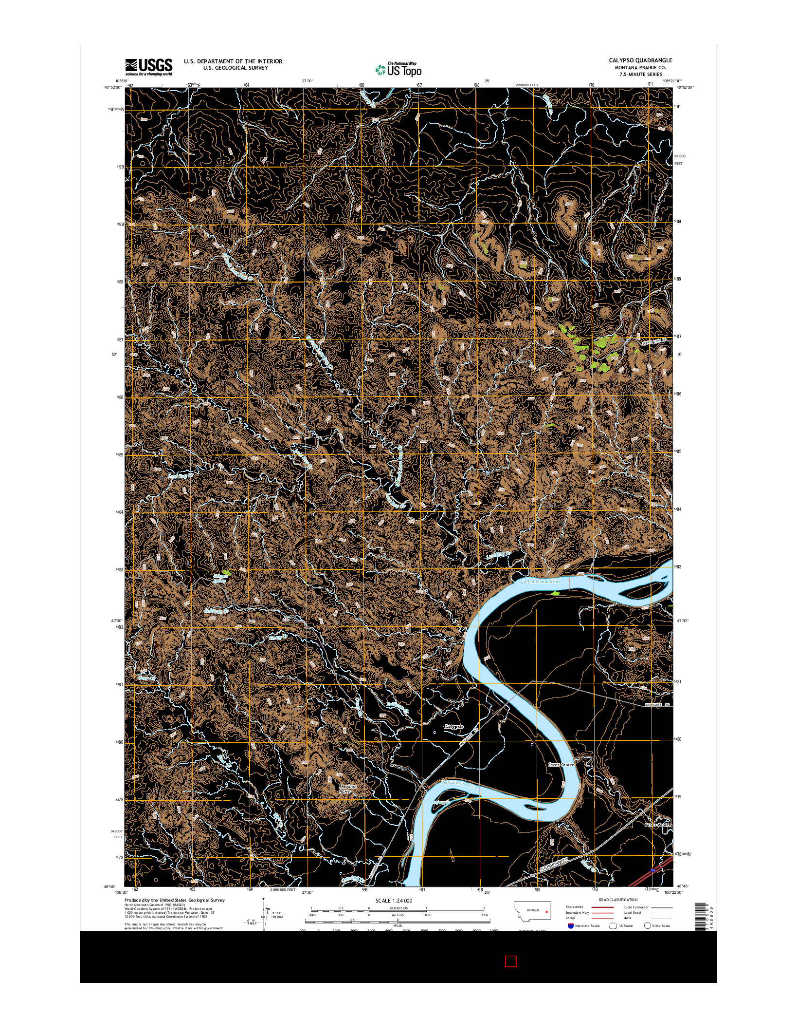 USGS US TOPO 7.5-MINUTE MAP FOR CALYPSO, MT 2014