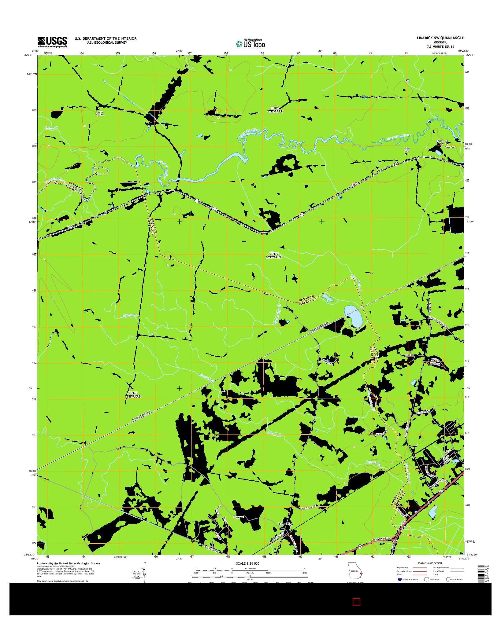 USGS US TOPO 7.5-MINUTE MAP FOR LIMERICK NW, GA 2014