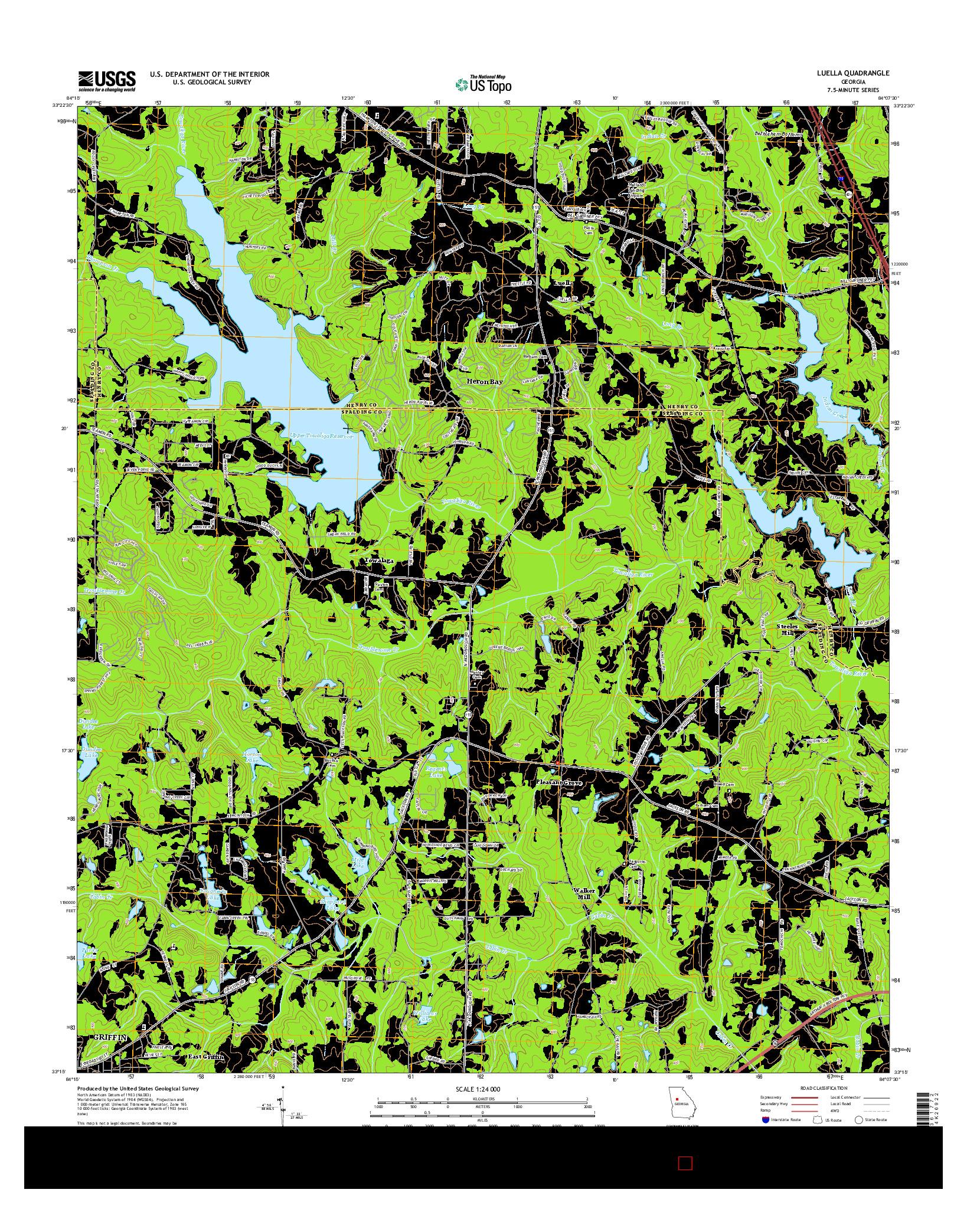 USGS US TOPO 7.5-MINUTE MAP FOR LUELLA, GA 2014