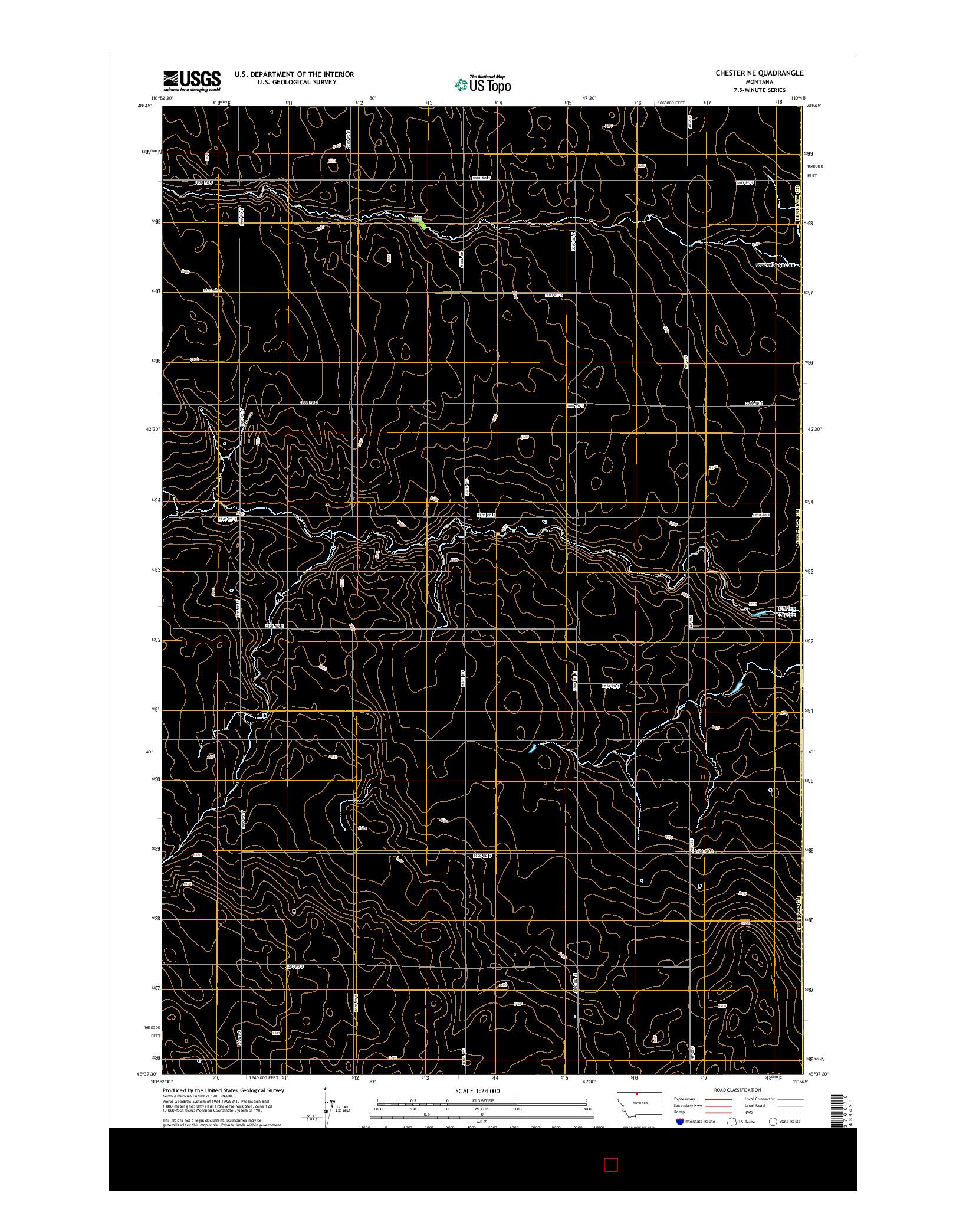 USGS US TOPO 7.5-MINUTE MAP FOR CHESTER NE, MT 2014