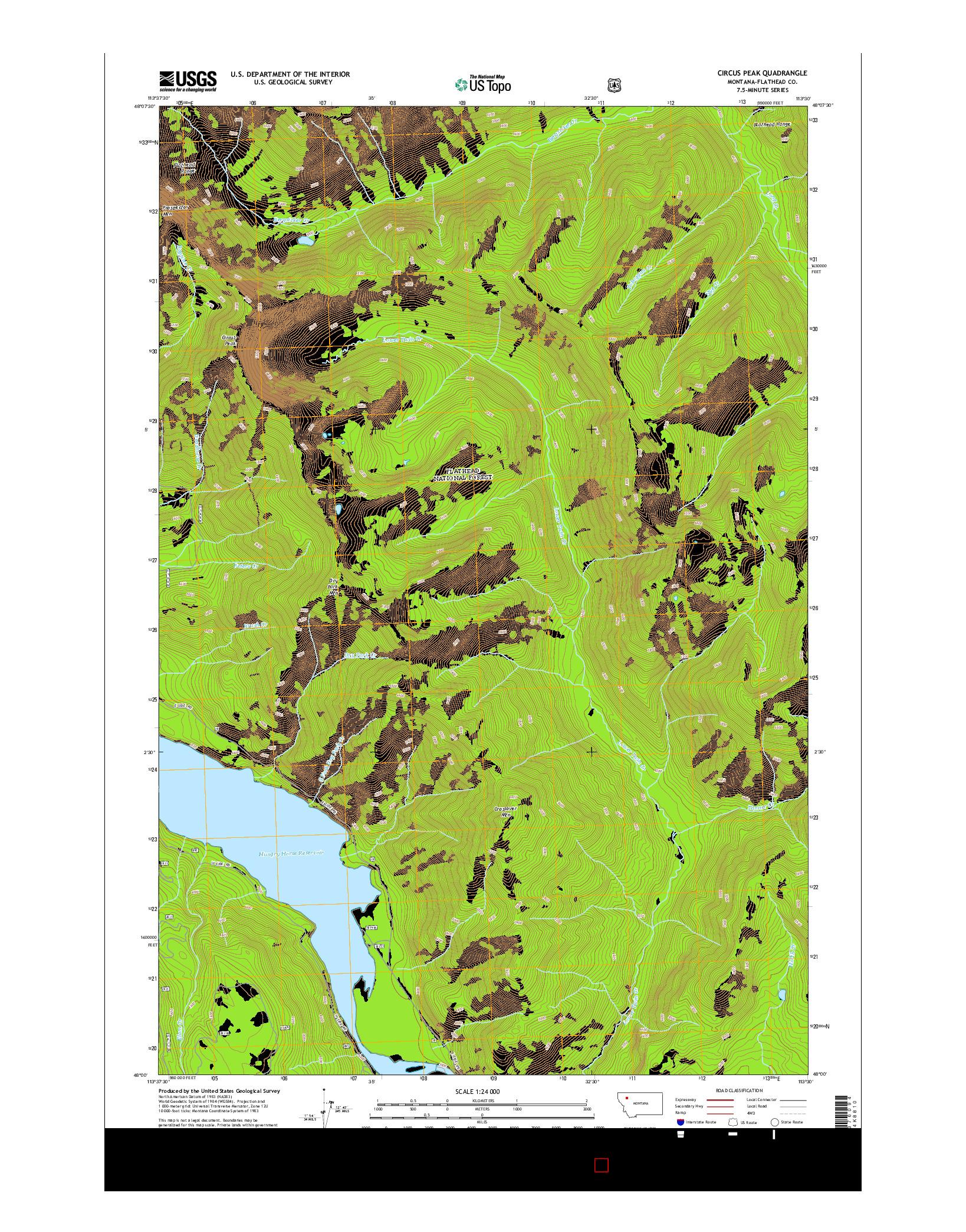 USGS US TOPO 7.5-MINUTE MAP FOR CIRCUS PEAK, MT 2014