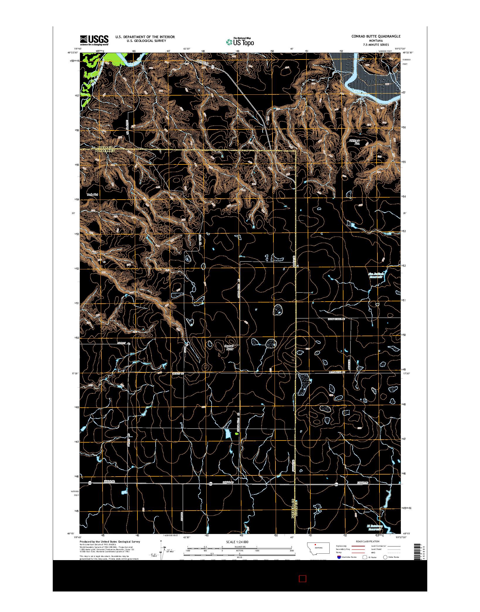 USGS US TOPO 7.5-MINUTE MAP FOR CONRAD BUTTE, MT 2014