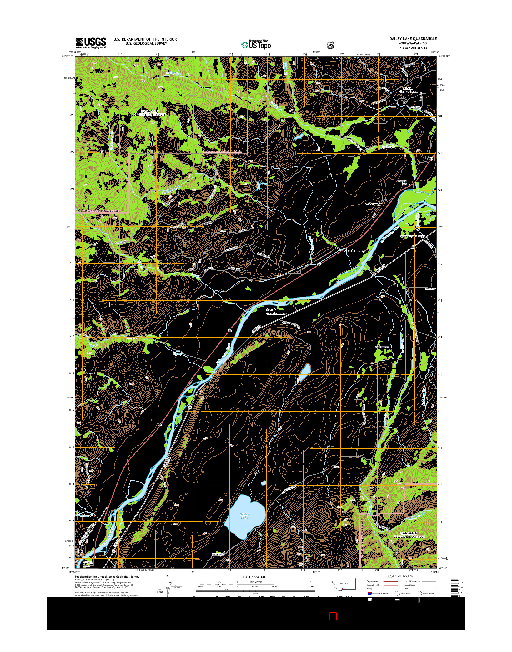 USGS US TOPO 7.5-MINUTE MAP FOR DAILEY LAKE, MT 2014