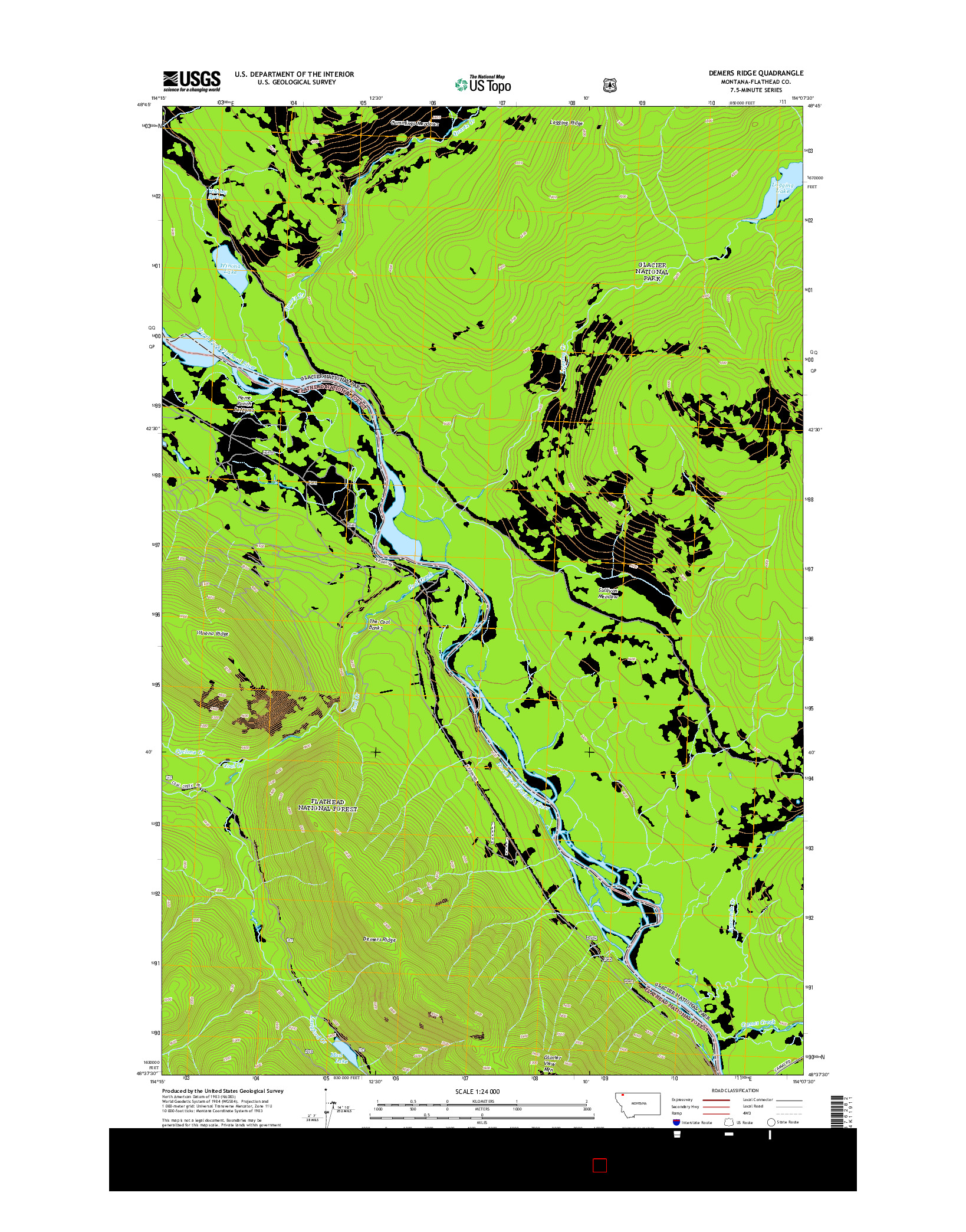 USGS US TOPO 7.5-MINUTE MAP FOR DEMERS RIDGE, MT 2014
