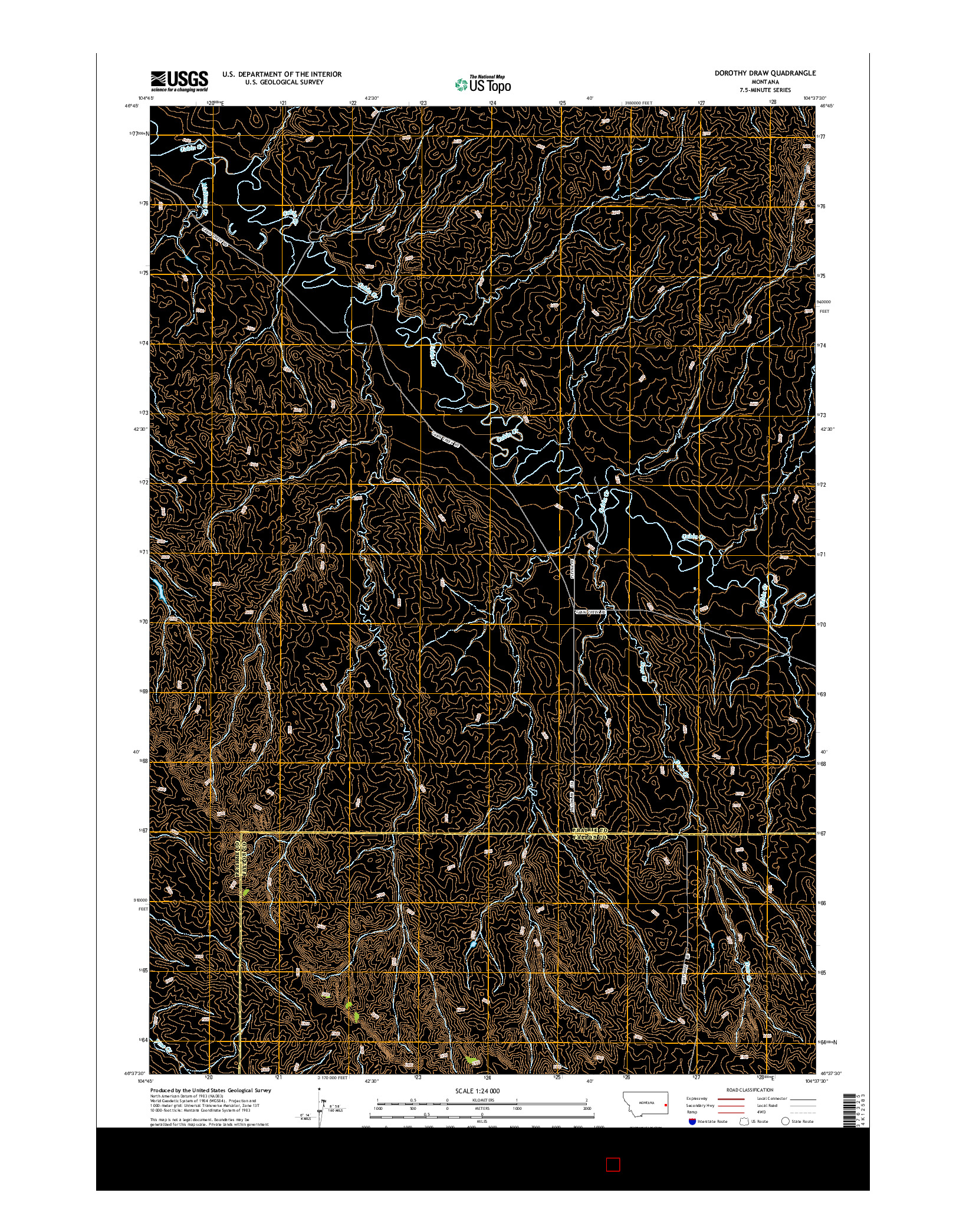 USGS US TOPO 7.5-MINUTE MAP FOR DOROTHY DRAW, MT 2014