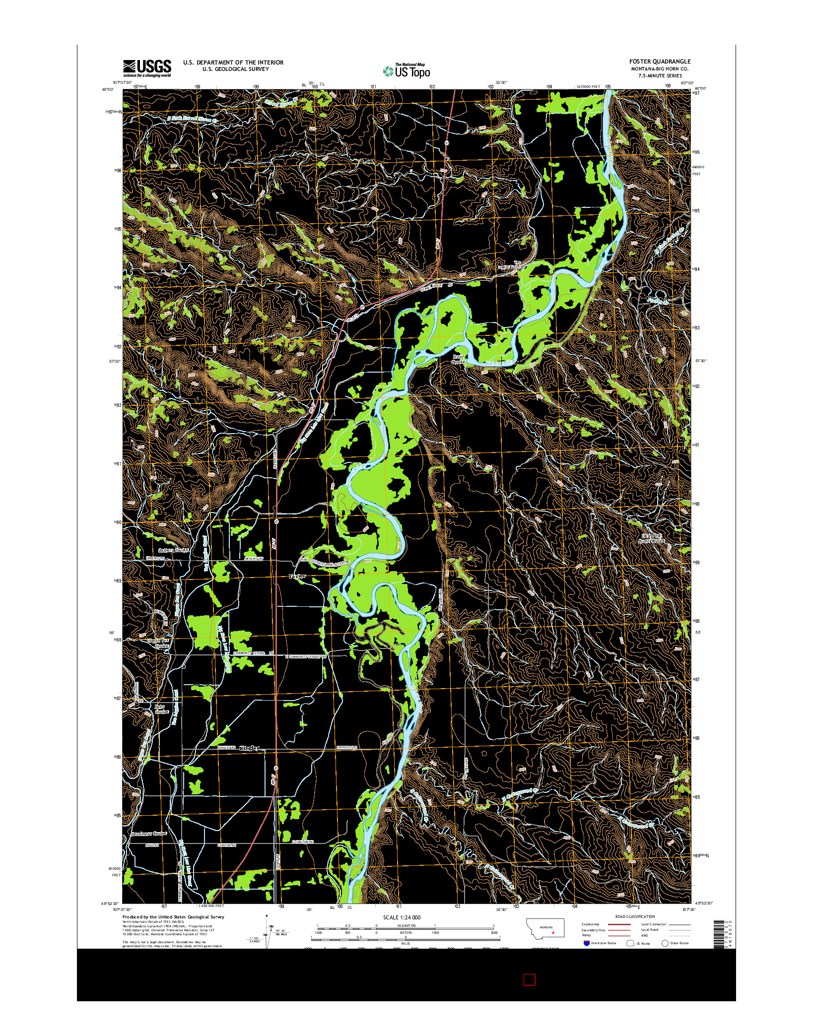 USGS US TOPO 7.5-MINUTE MAP FOR FOSTER, MT 2014