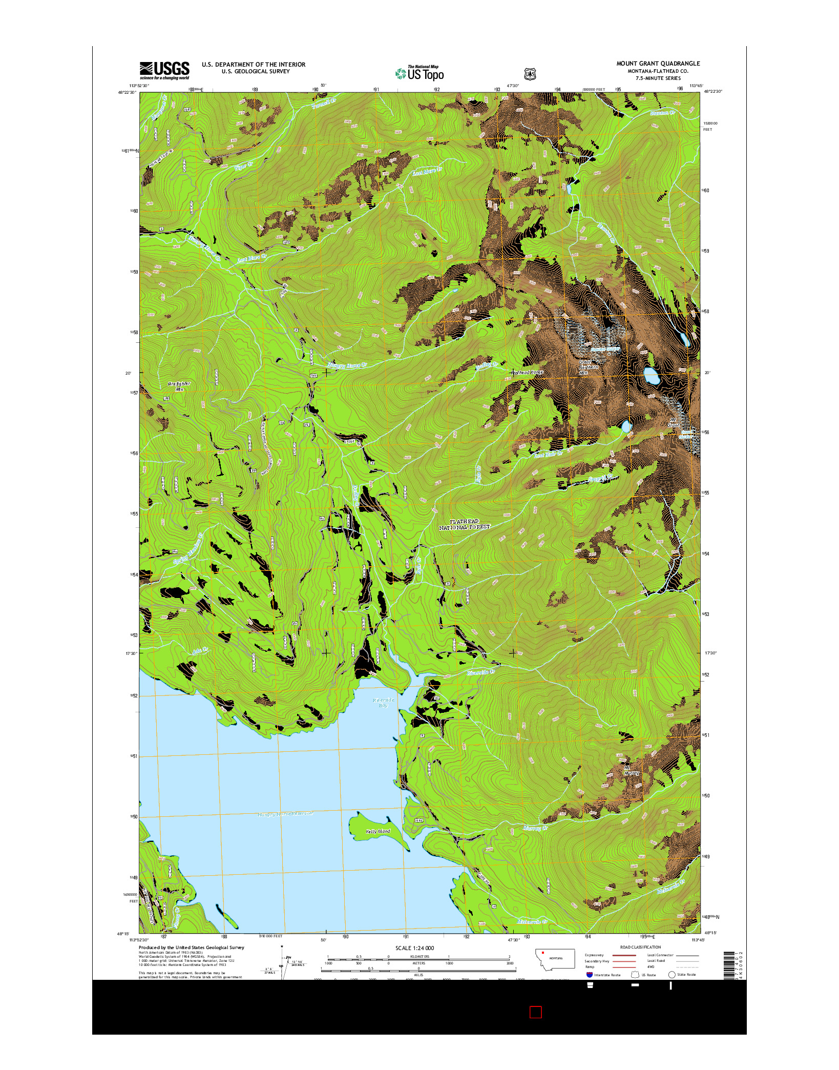 USGS US TOPO 7.5-MINUTE MAP FOR MOUNT GRANT, MT 2014