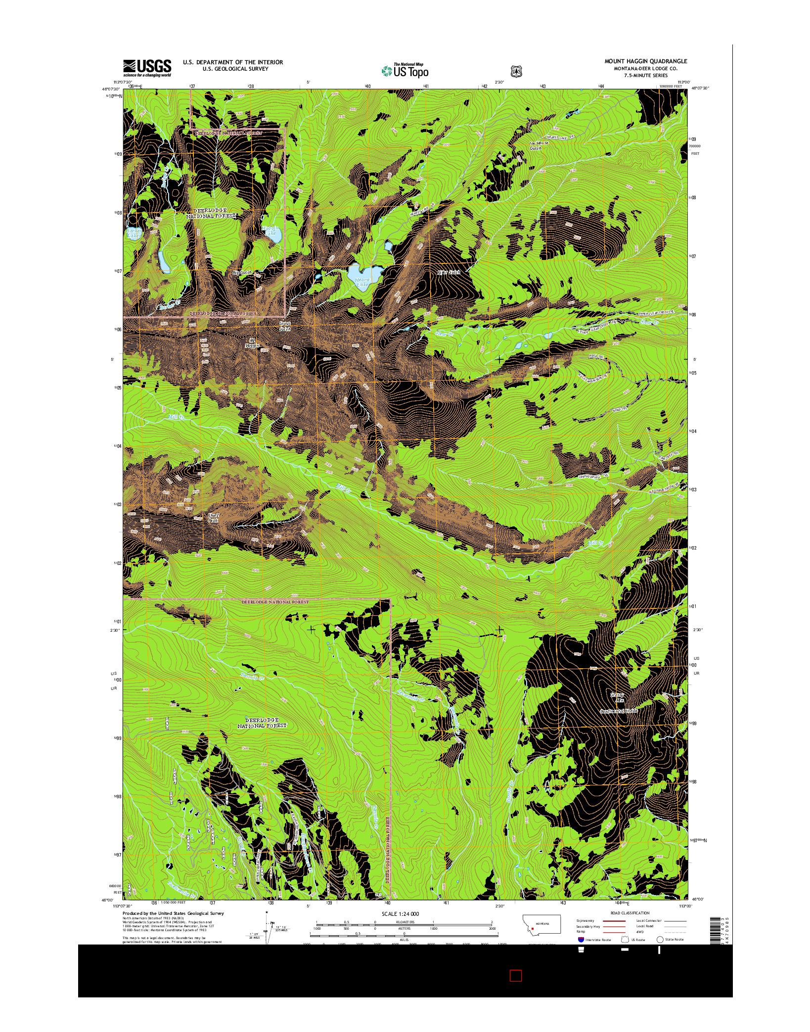 USGS US TOPO 7.5-MINUTE MAP FOR MOUNT HAGGIN, MT 2014