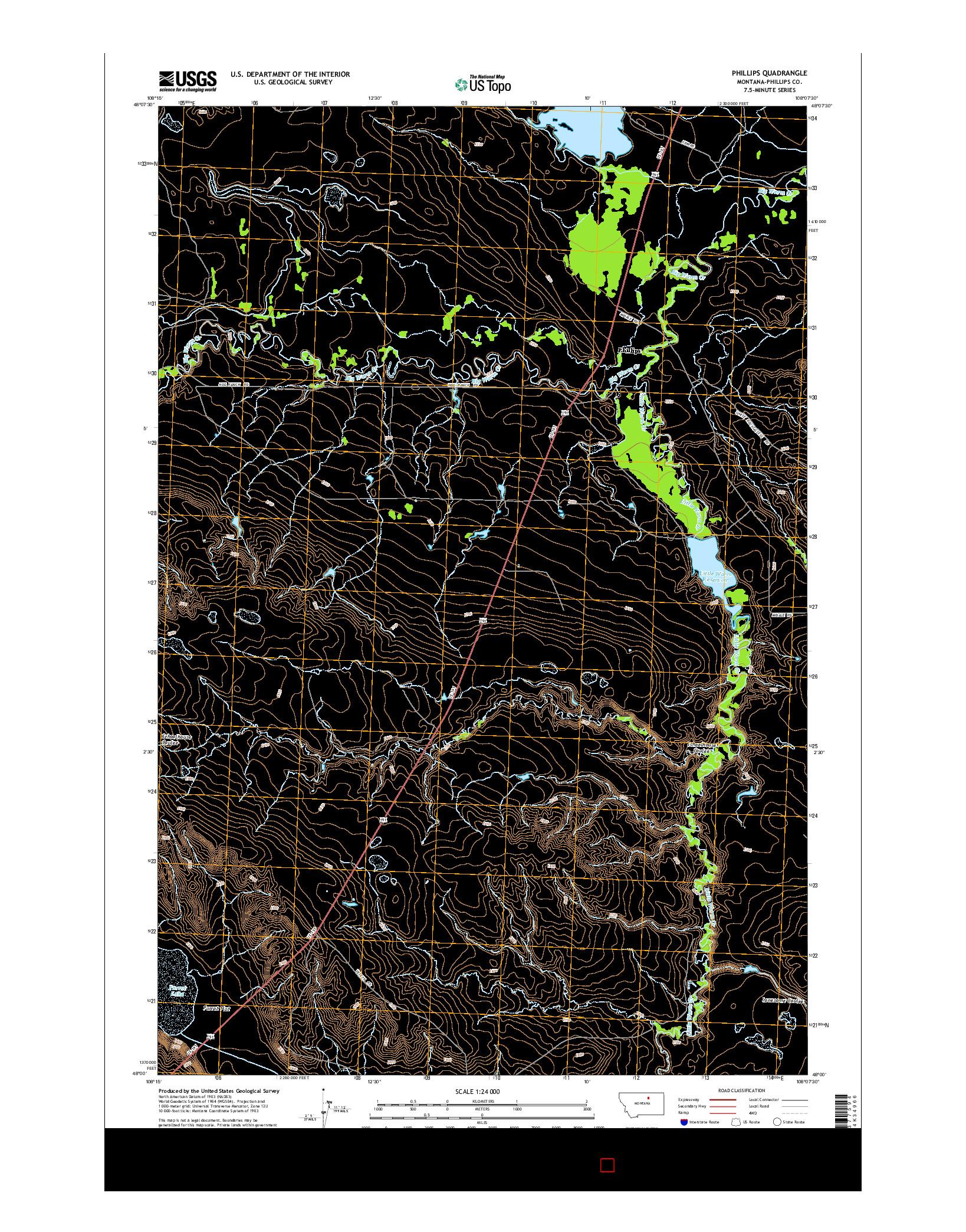 USGS US TOPO 7.5-MINUTE MAP FOR PHILLIPS, MT 2014