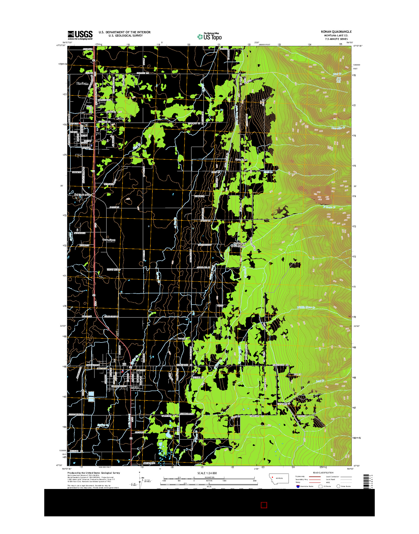 USGS US TOPO 7.5-MINUTE MAP FOR RONAN, MT 2014