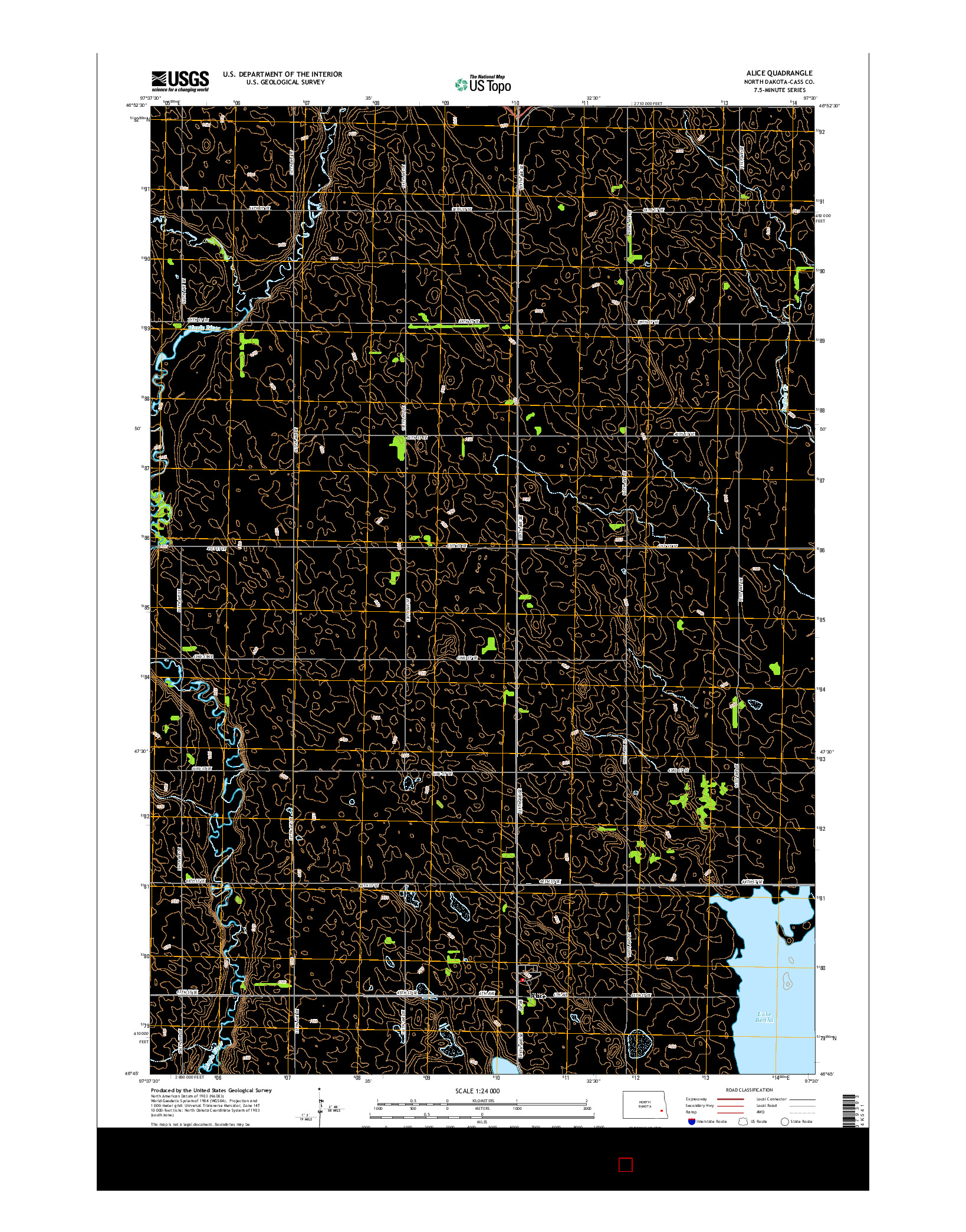 USGS US TOPO 7.5-MINUTE MAP FOR ALICE, ND 2014