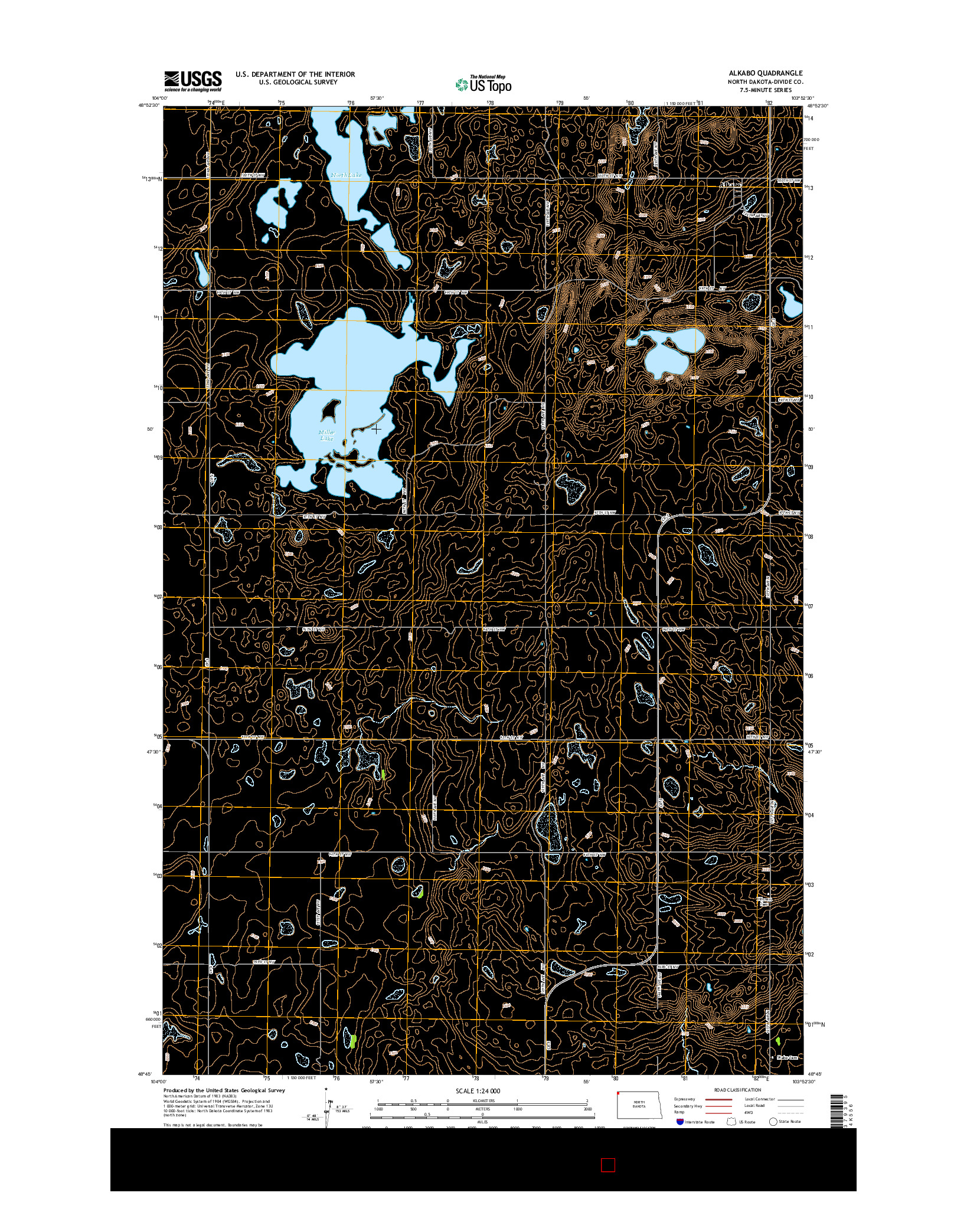 USGS US TOPO 7.5-MINUTE MAP FOR ALKABO, ND 2014