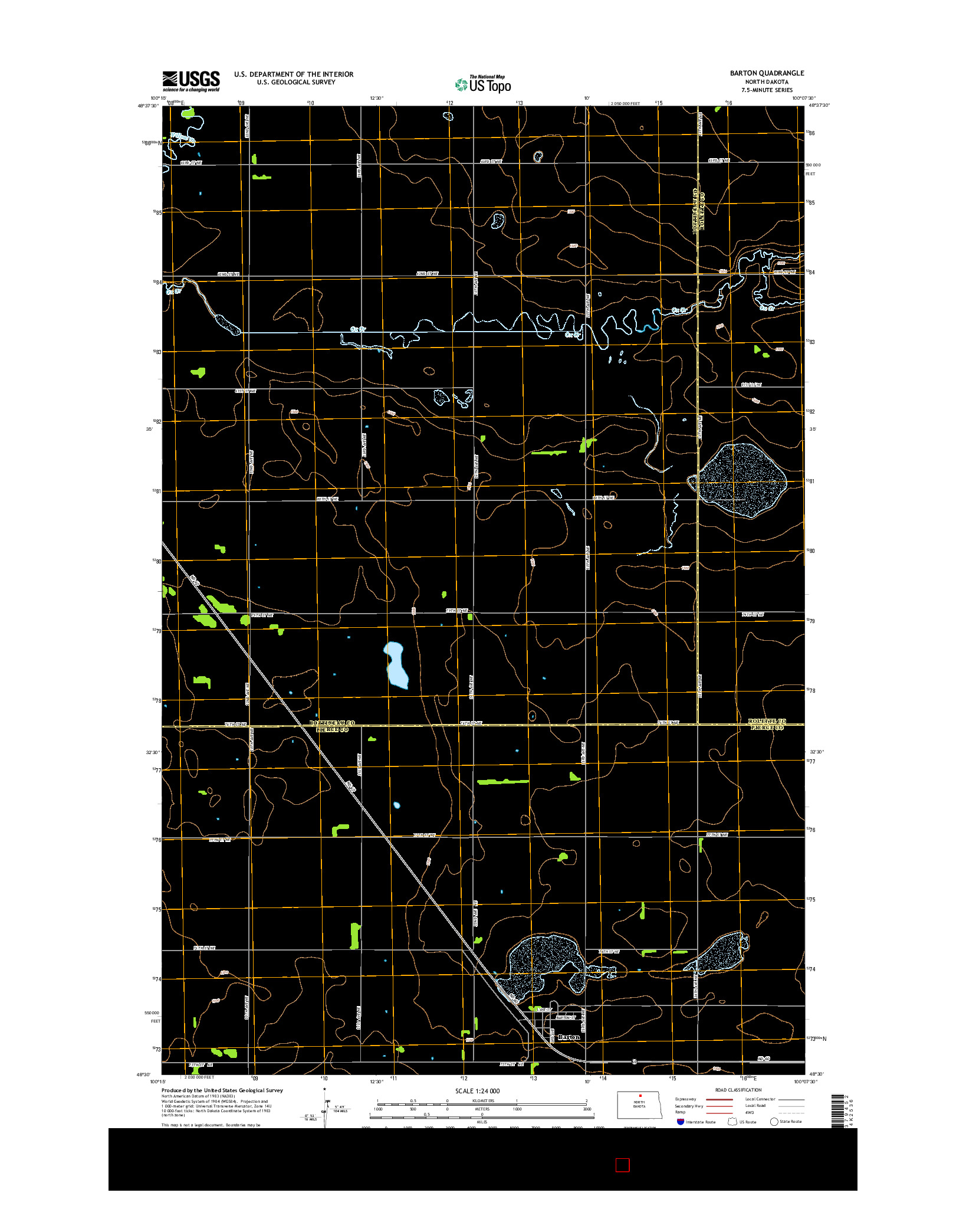 USGS US TOPO 7.5-MINUTE MAP FOR BARTON, ND 2014