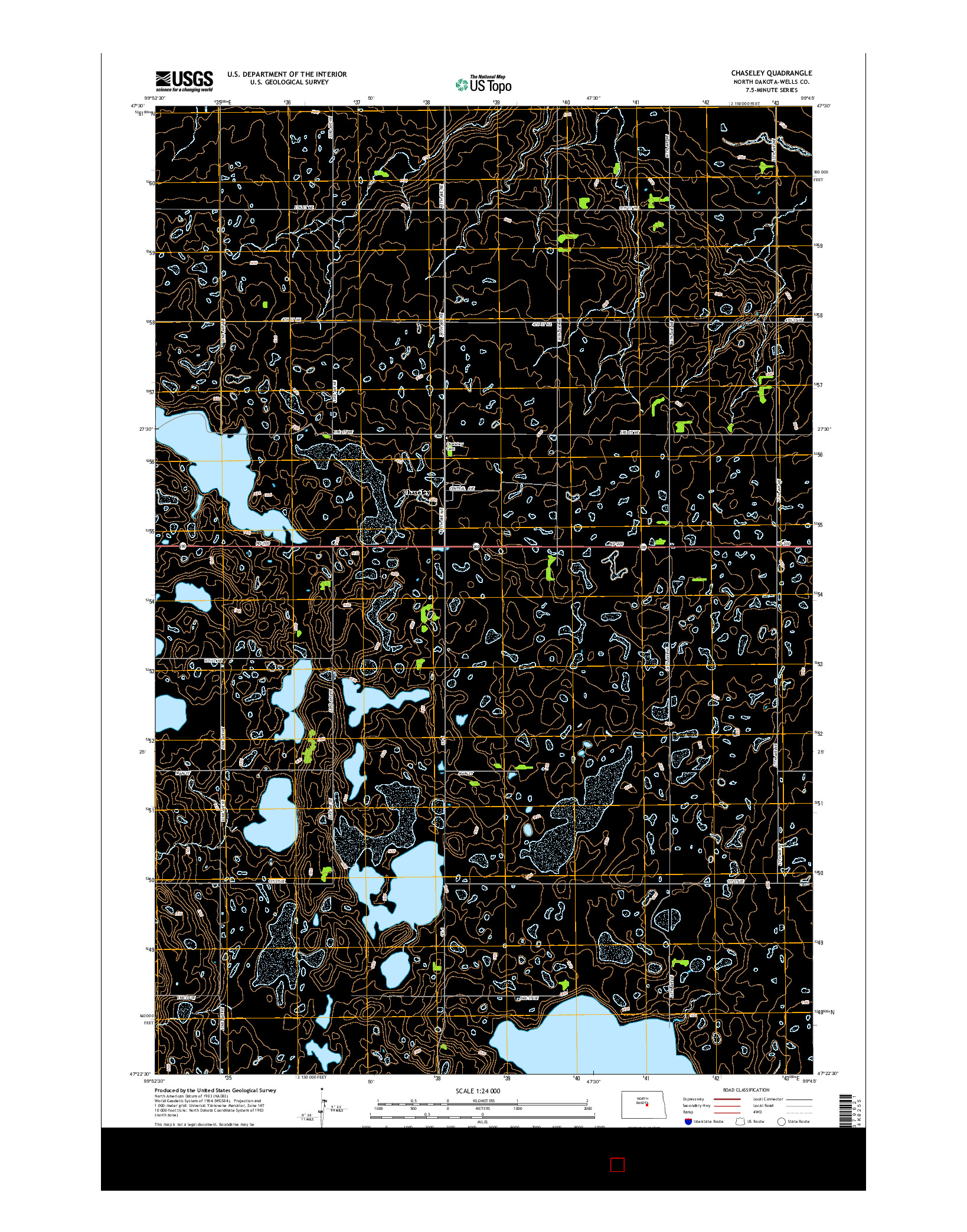 USGS US TOPO 7.5-MINUTE MAP FOR CHASELEY, ND 2014