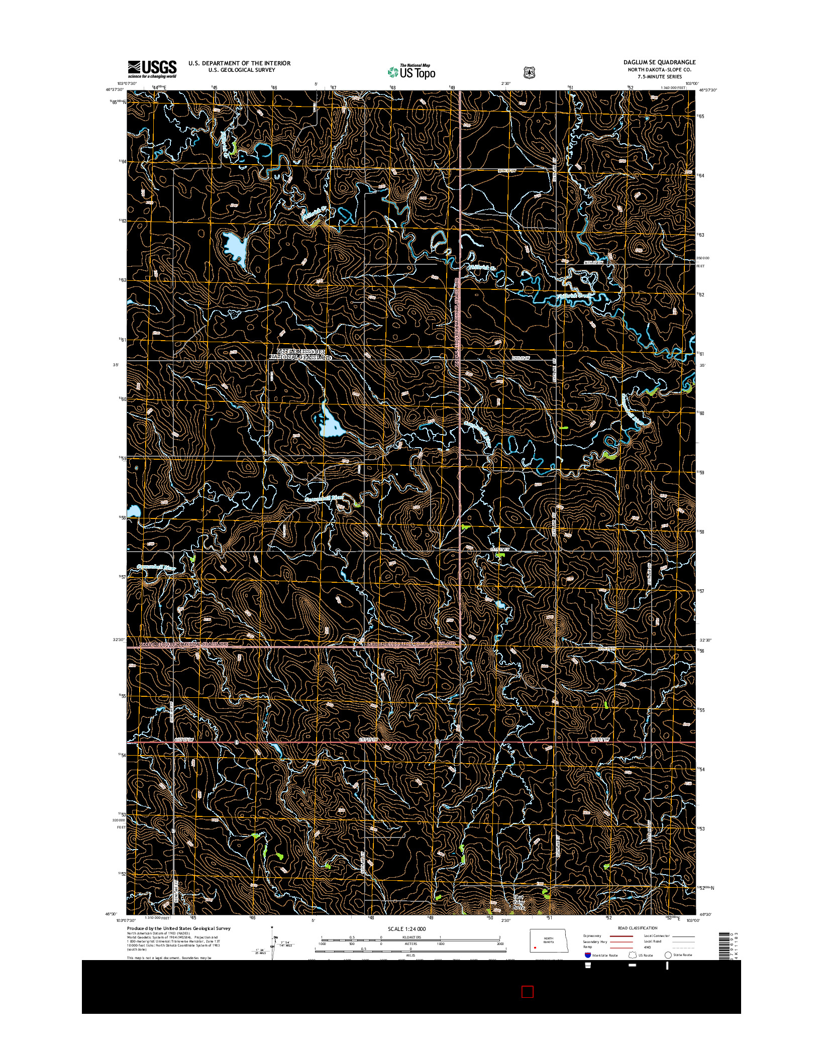 USGS US TOPO 7.5-MINUTE MAP FOR DAGLUM SE, ND 2014