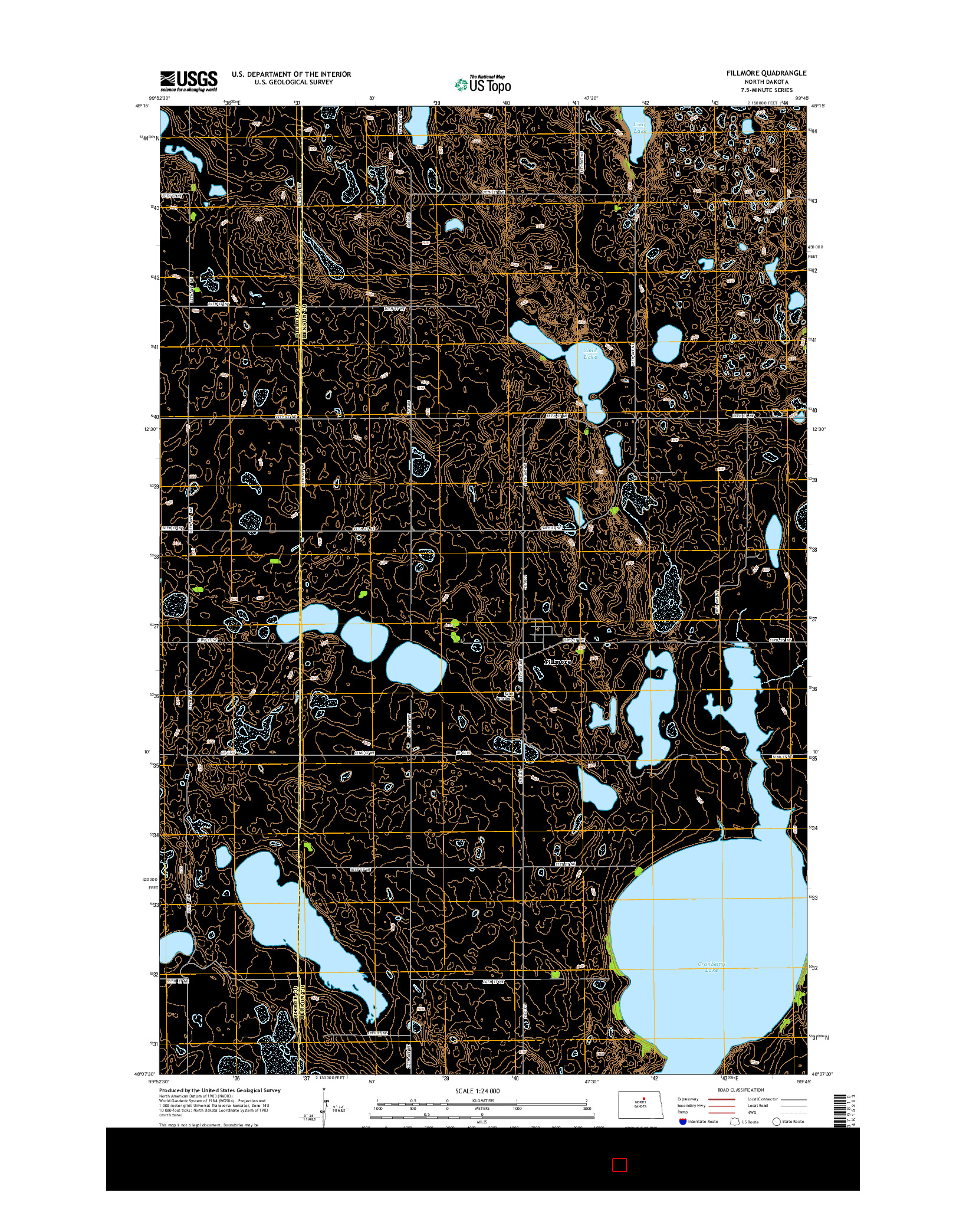 USGS US TOPO 7.5-MINUTE MAP FOR FILLMORE, ND 2014