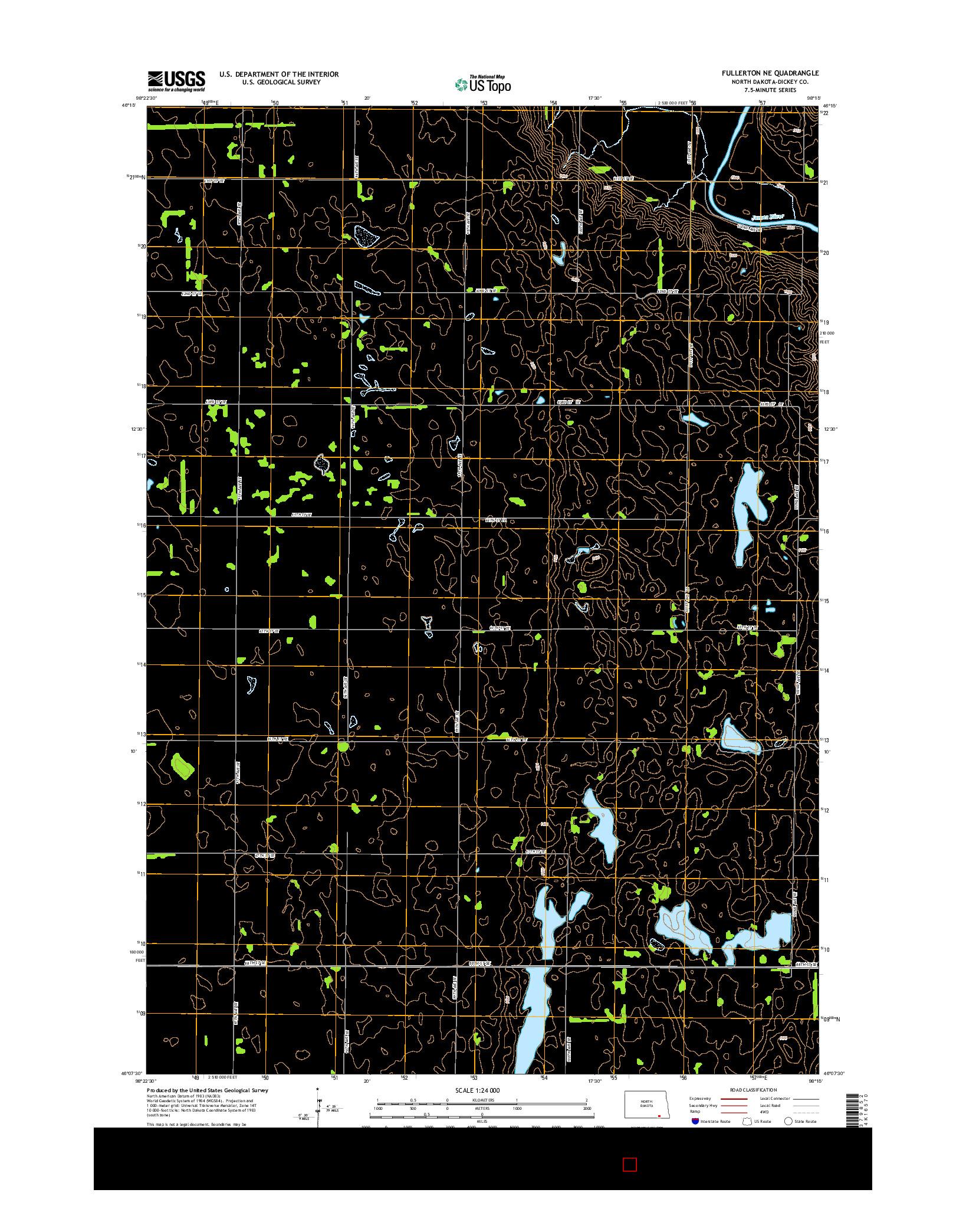 USGS US TOPO 7.5-MINUTE MAP FOR FULLERTON NE, ND 2014
