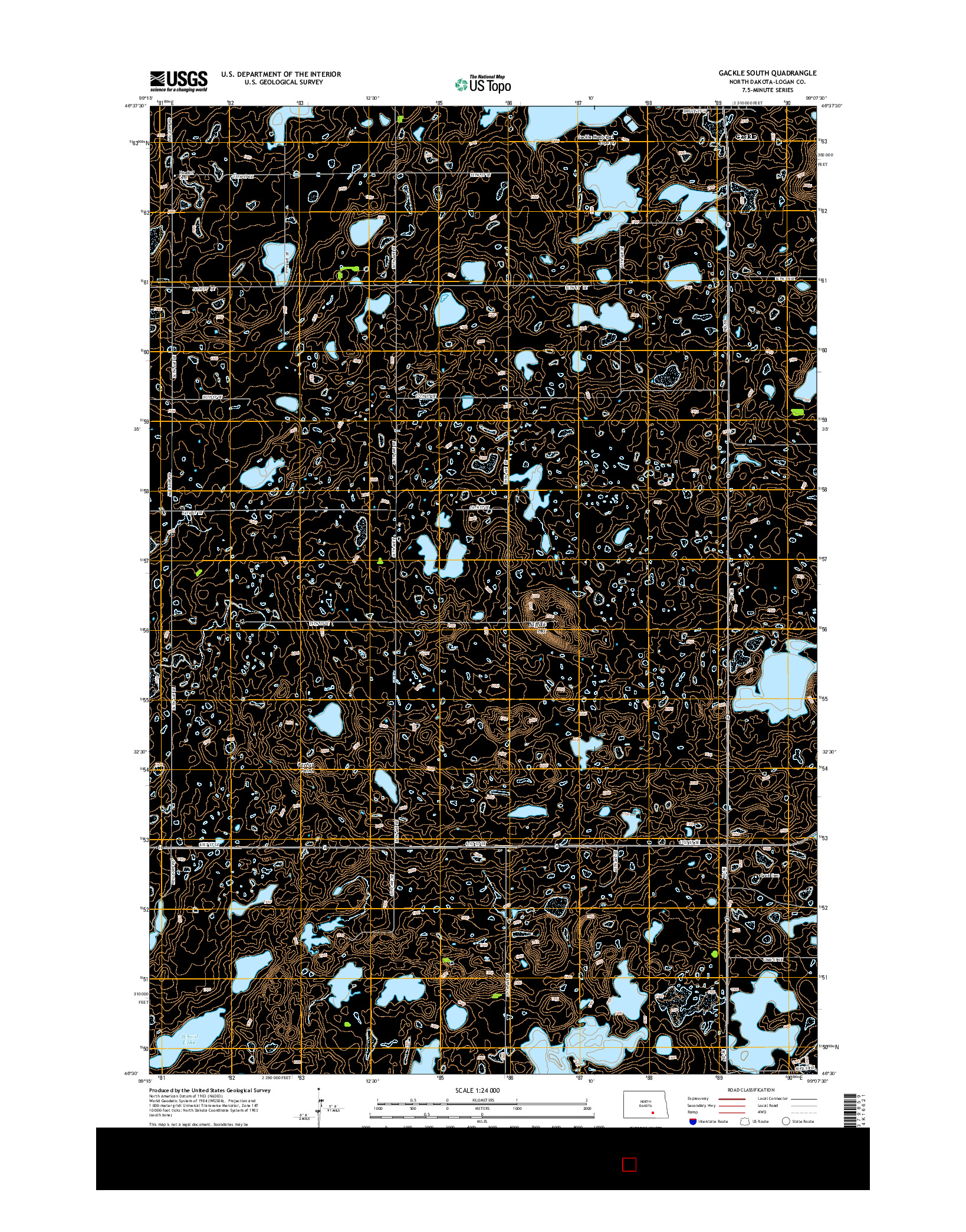 USGS US TOPO 7.5-MINUTE MAP FOR GACKLE SOUTH, ND 2014