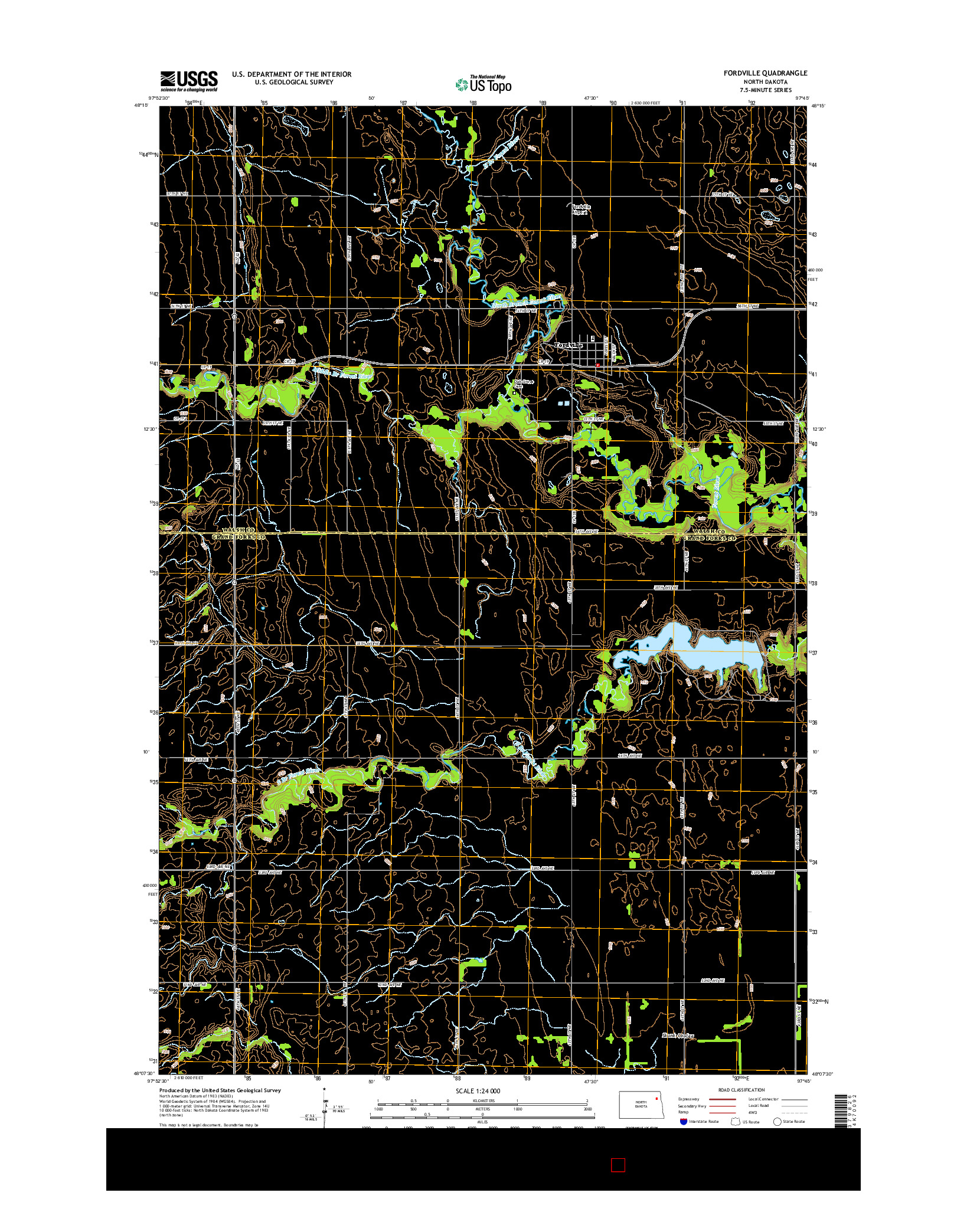 USGS US TOPO 7.5-MINUTE MAP FOR FORDVILLE, ND 2014