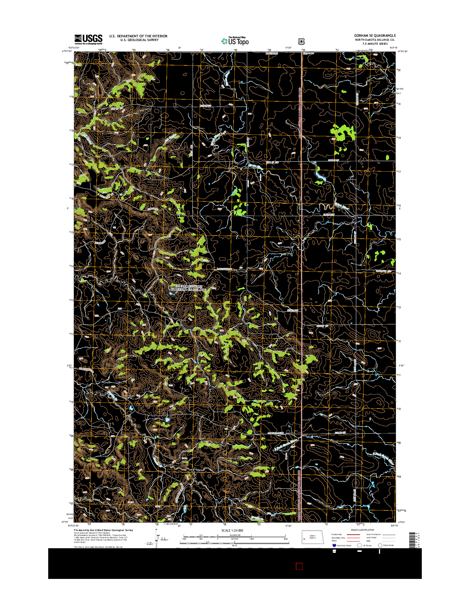 USGS US TOPO 7.5-MINUTE MAP FOR GORHAM SE, ND 2014