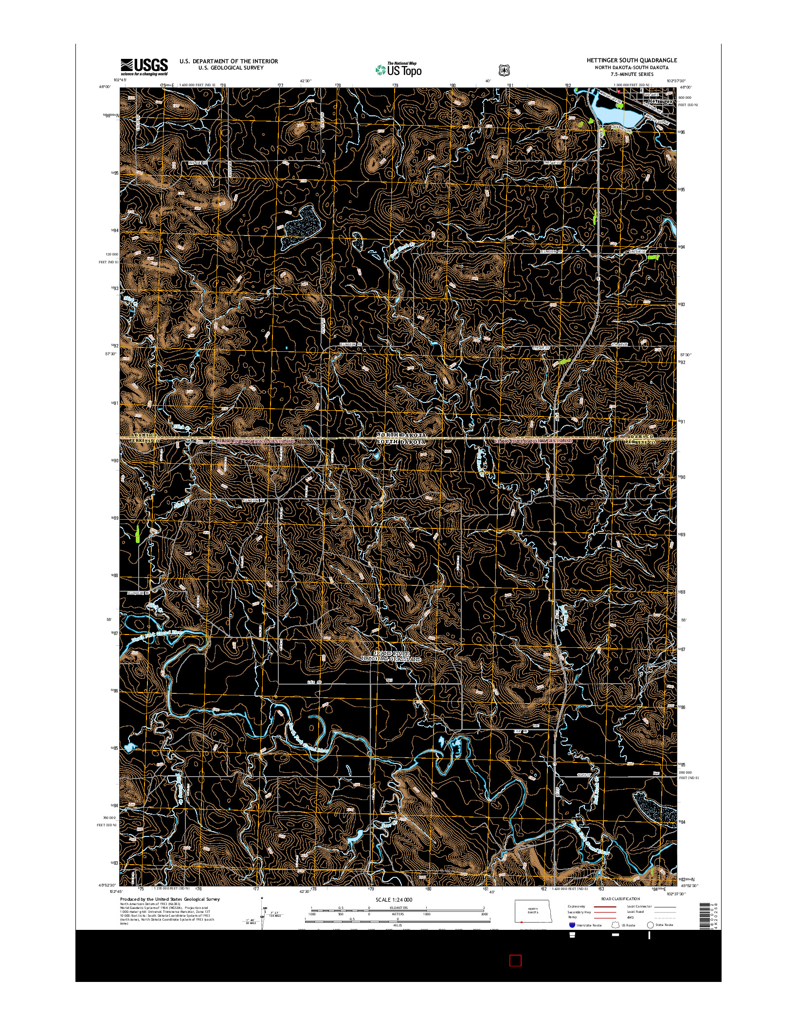 USGS US TOPO 7.5-MINUTE MAP FOR HETTINGER SOUTH, ND-SD 2014