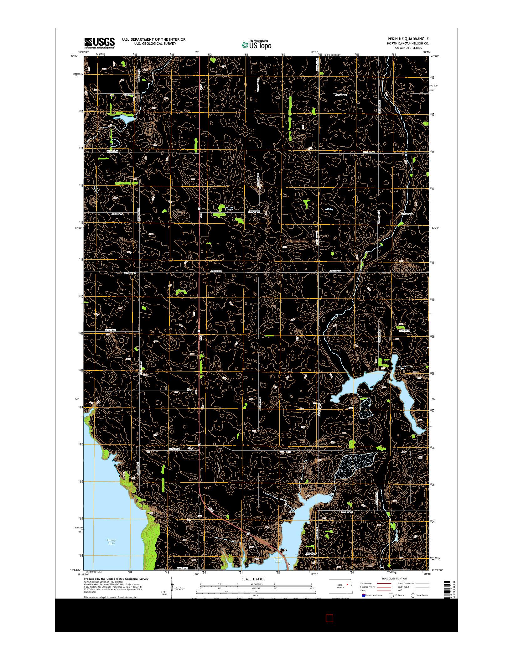 USGS US TOPO 7.5-MINUTE MAP FOR PEKIN NE, ND 2014