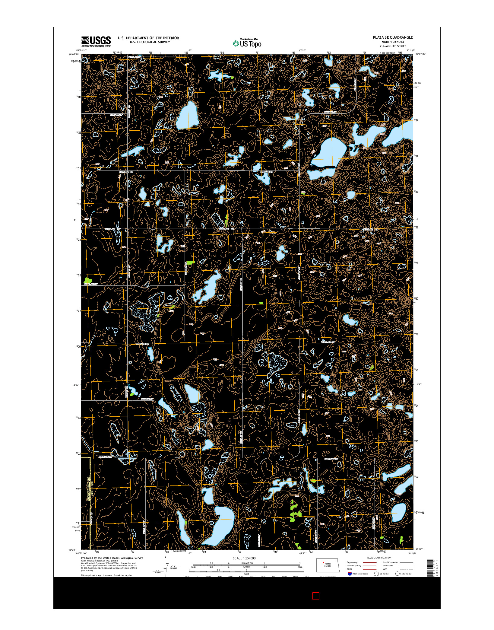 USGS US TOPO 7.5-MINUTE MAP FOR PLAZA SE, ND 2014