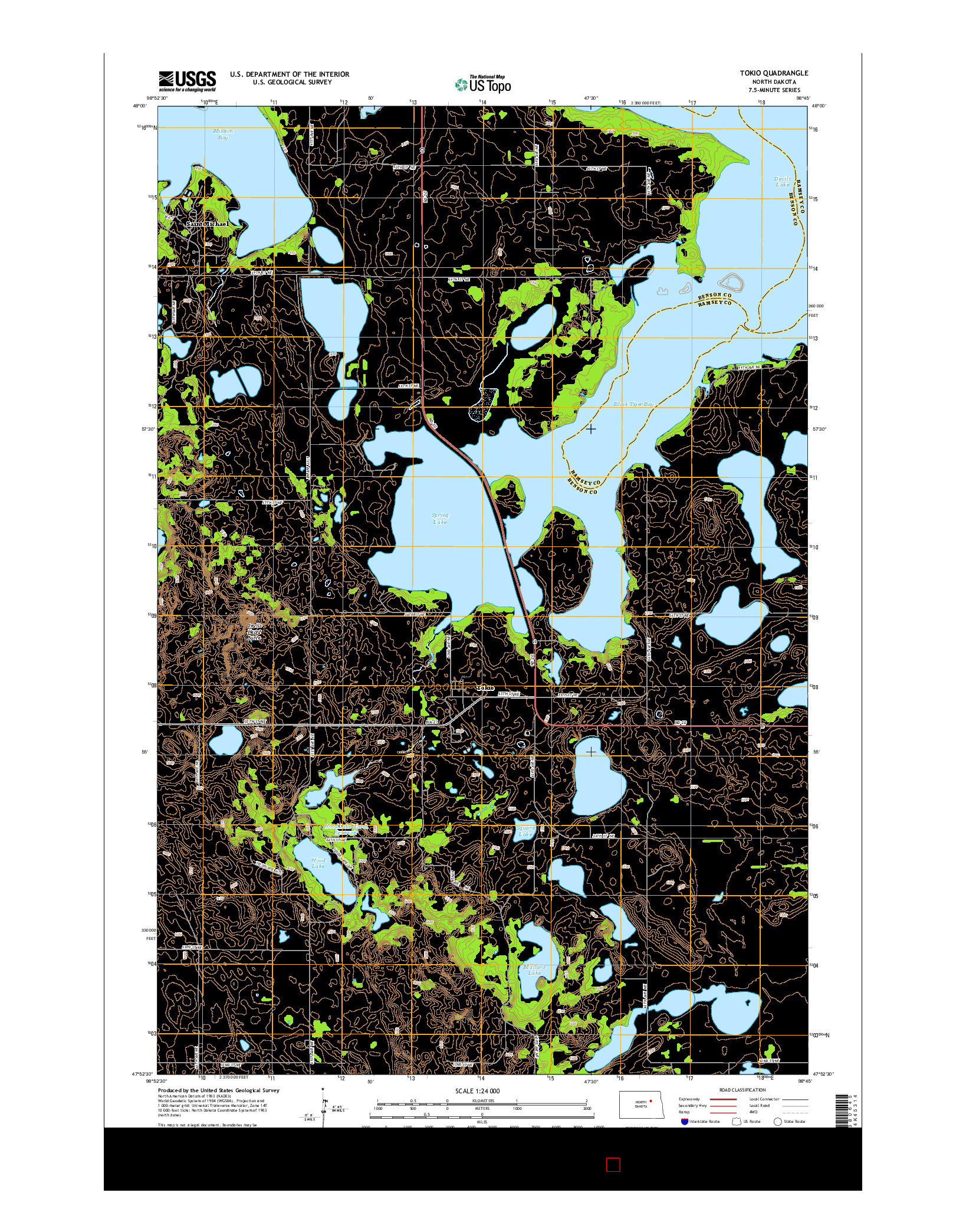 USGS US TOPO 7.5-MINUTE MAP FOR TOKIO, ND 2014