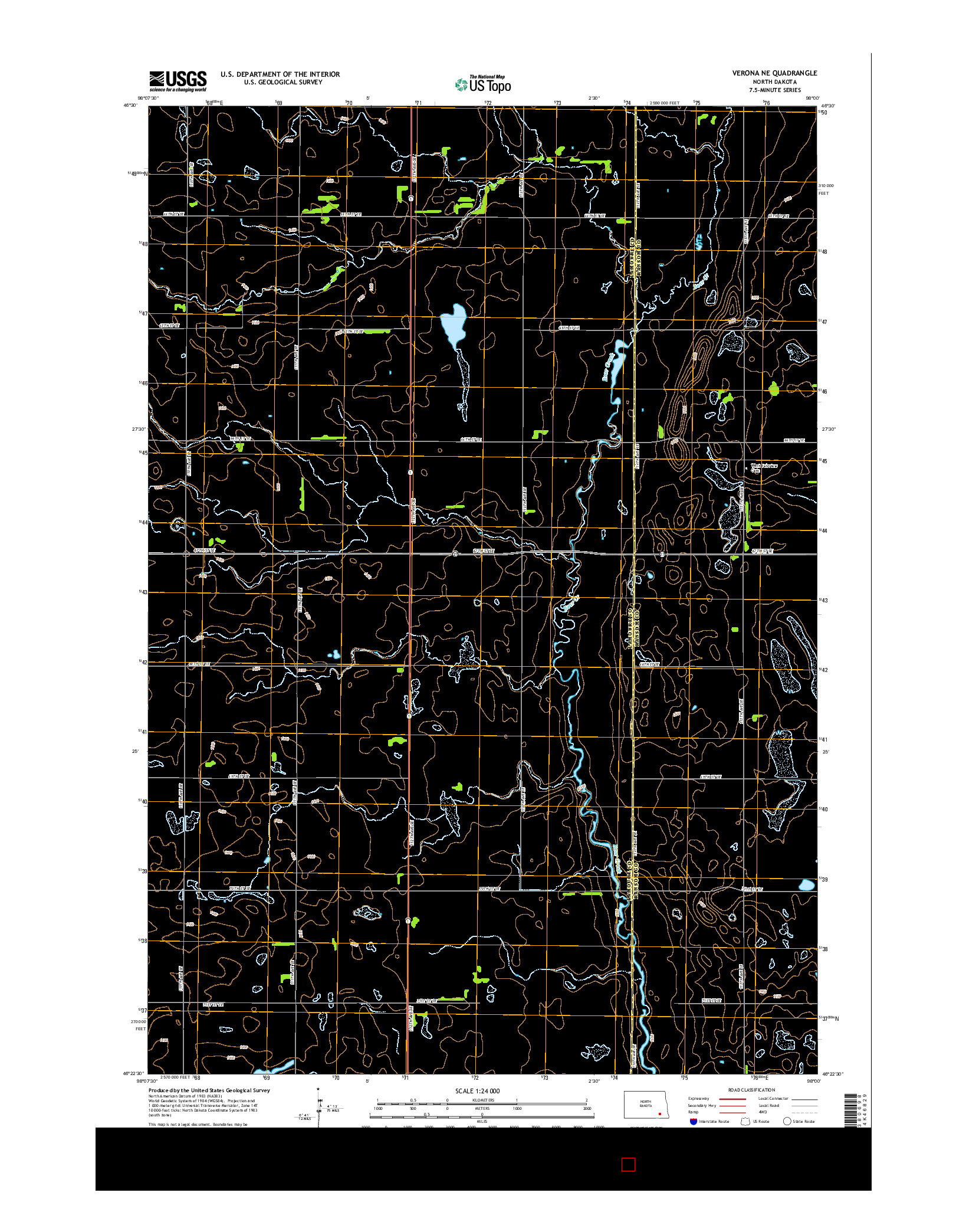 USGS US TOPO 7.5-MINUTE MAP FOR VERONA NE, ND 2014