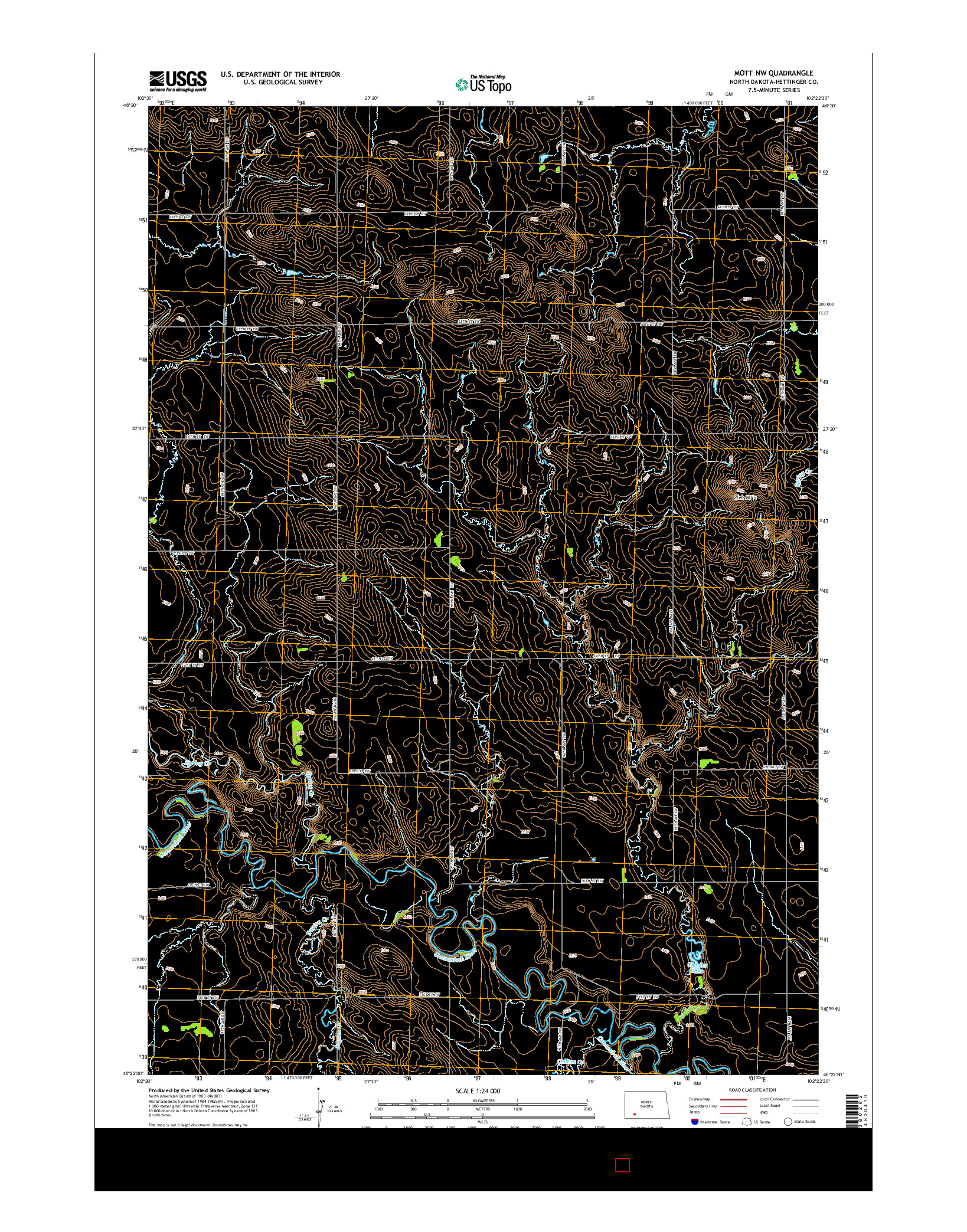 USGS US TOPO 7.5-MINUTE MAP FOR MOTT NW, ND 2014