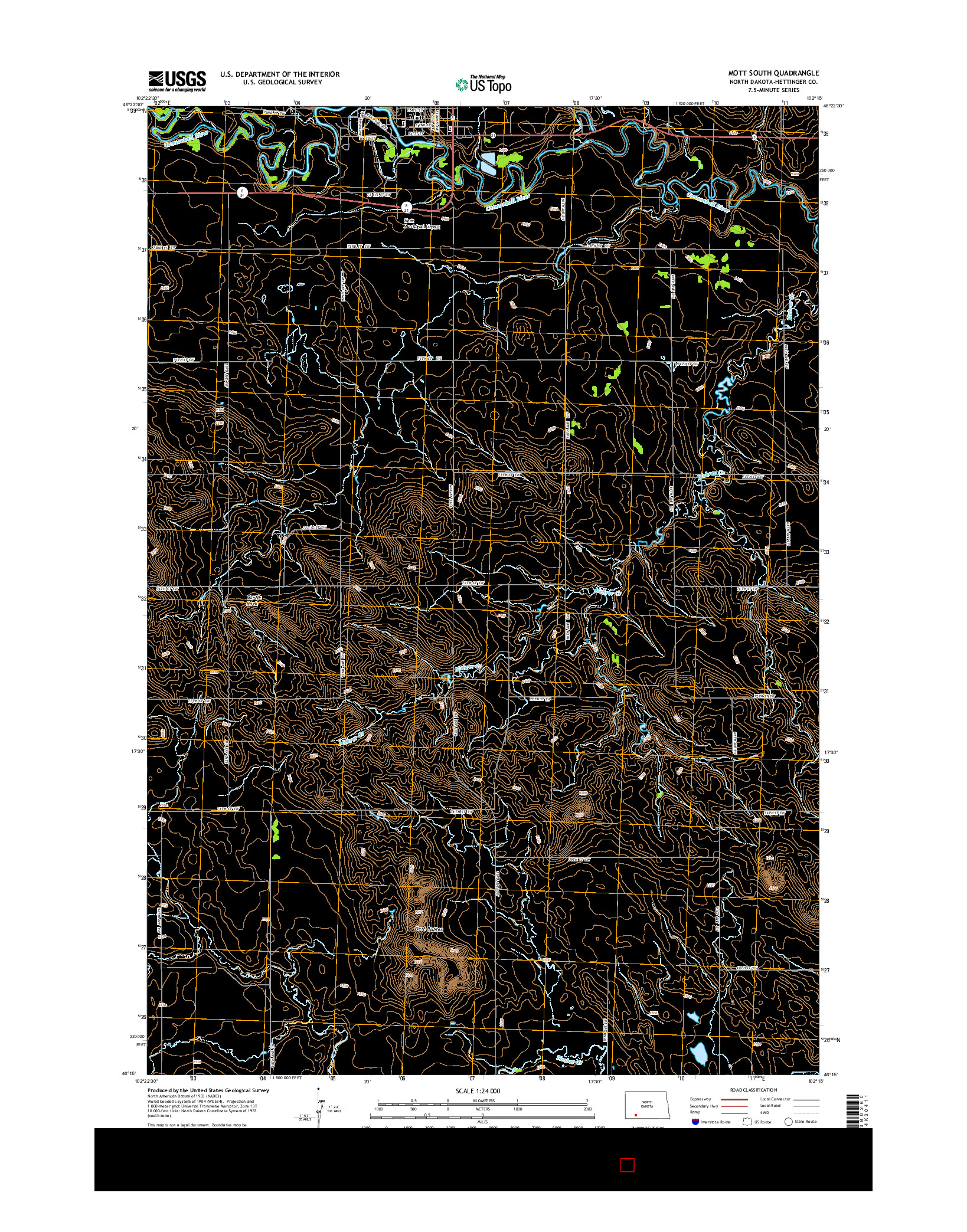 USGS US TOPO 7.5-MINUTE MAP FOR MOTT SOUTH, ND 2014