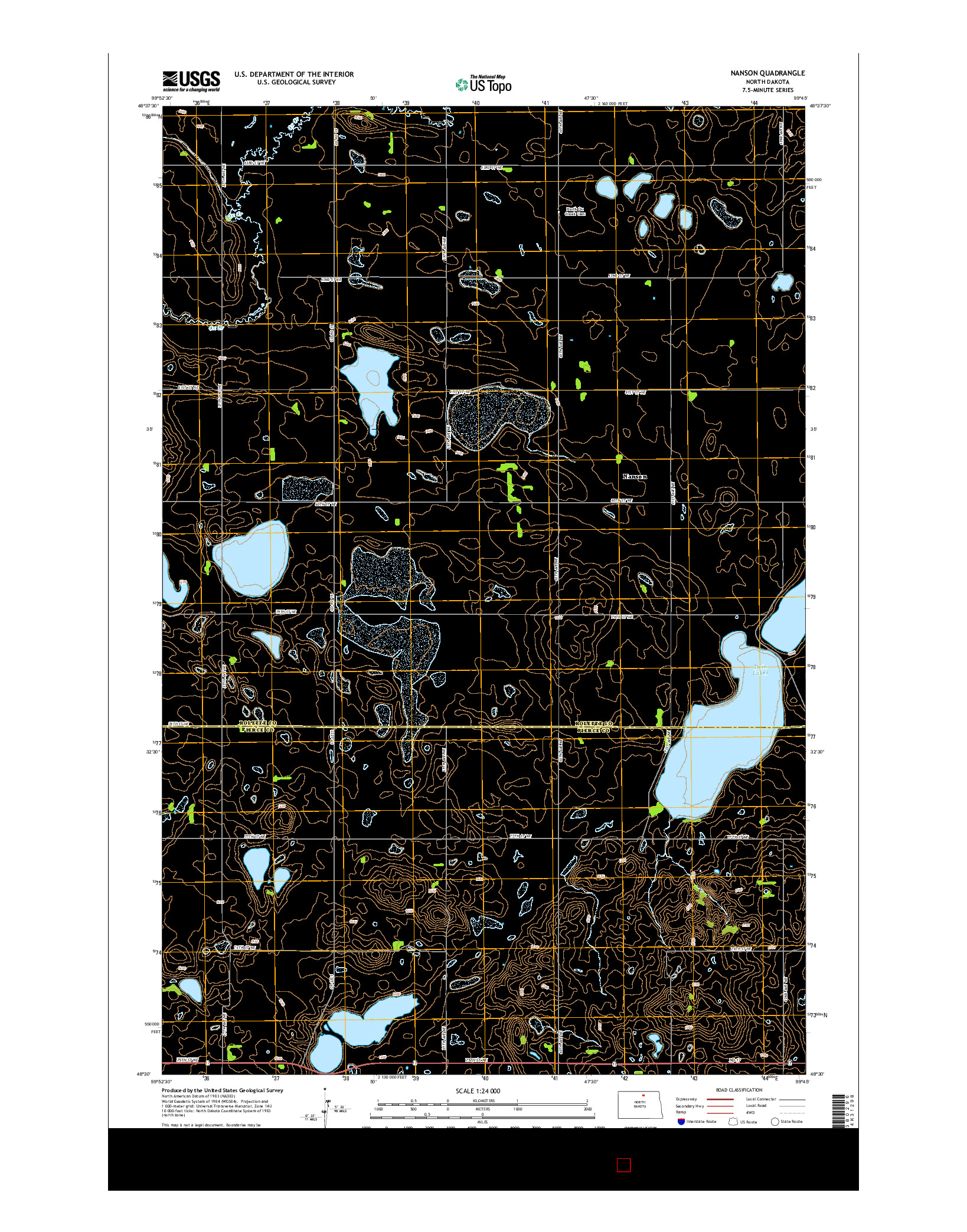 USGS US TOPO 7.5-MINUTE MAP FOR NANSON, ND 2014
