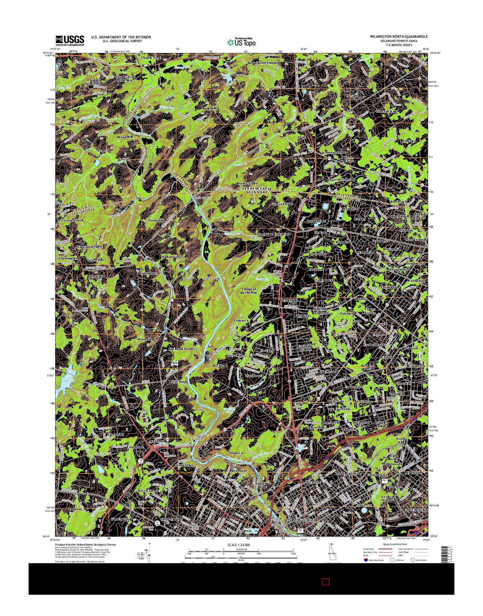 USGS US TOPO 7.5-MINUTE MAP FOR WILMINGTON NORTH, DE-PA 2014