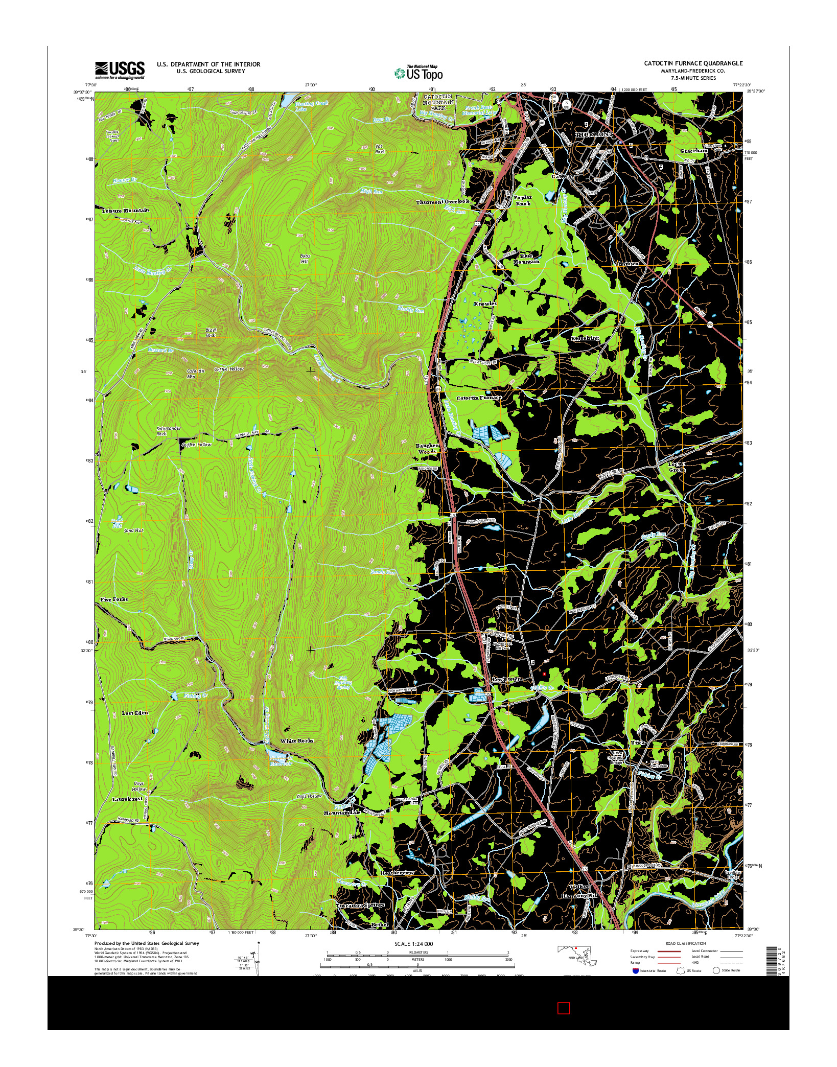USGS US TOPO 7.5-MINUTE MAP FOR CATOCTIN FURNACE, MD 2014
