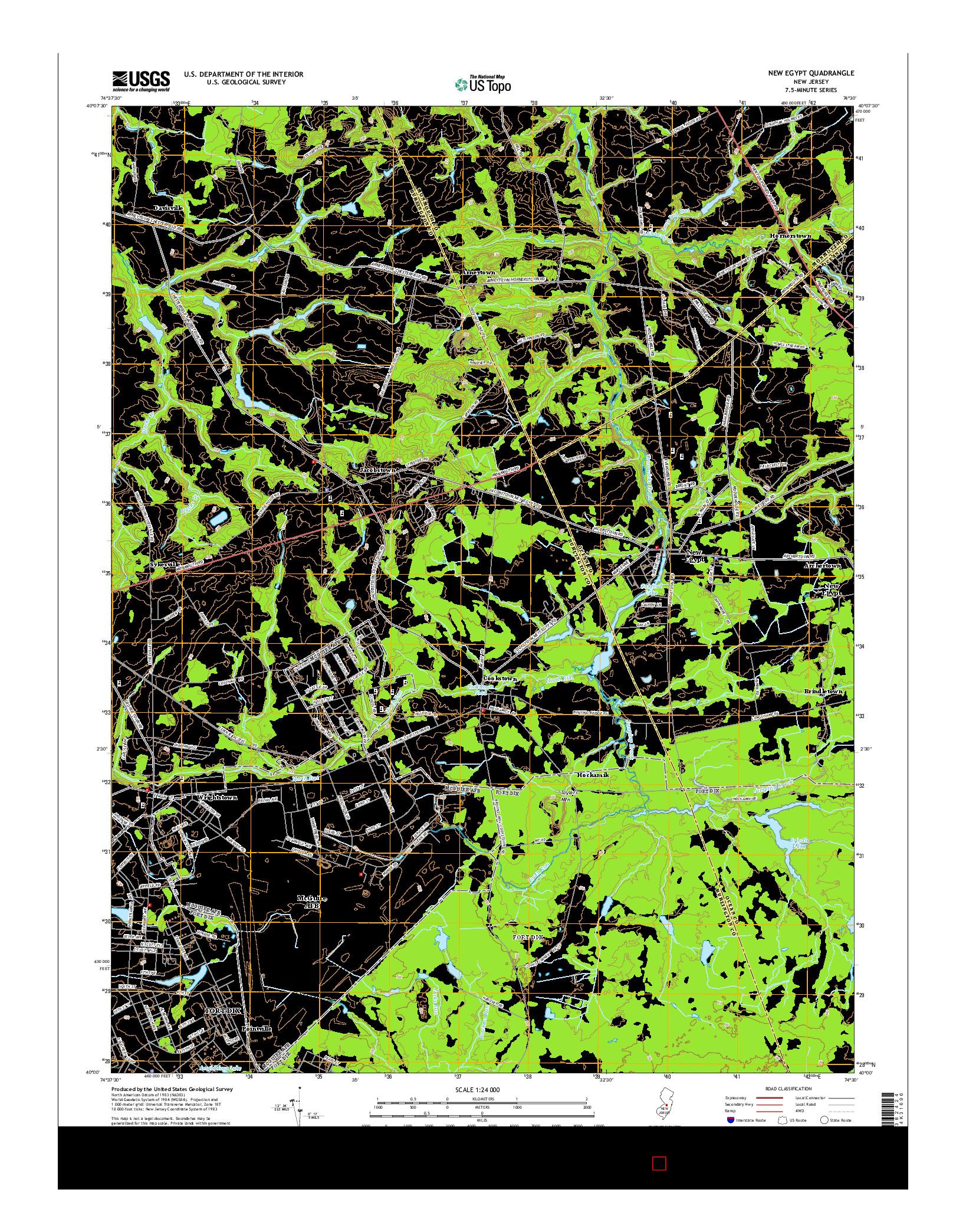 USGS US TOPO 7.5-MINUTE MAP FOR NEW EGYPT, NJ 2014