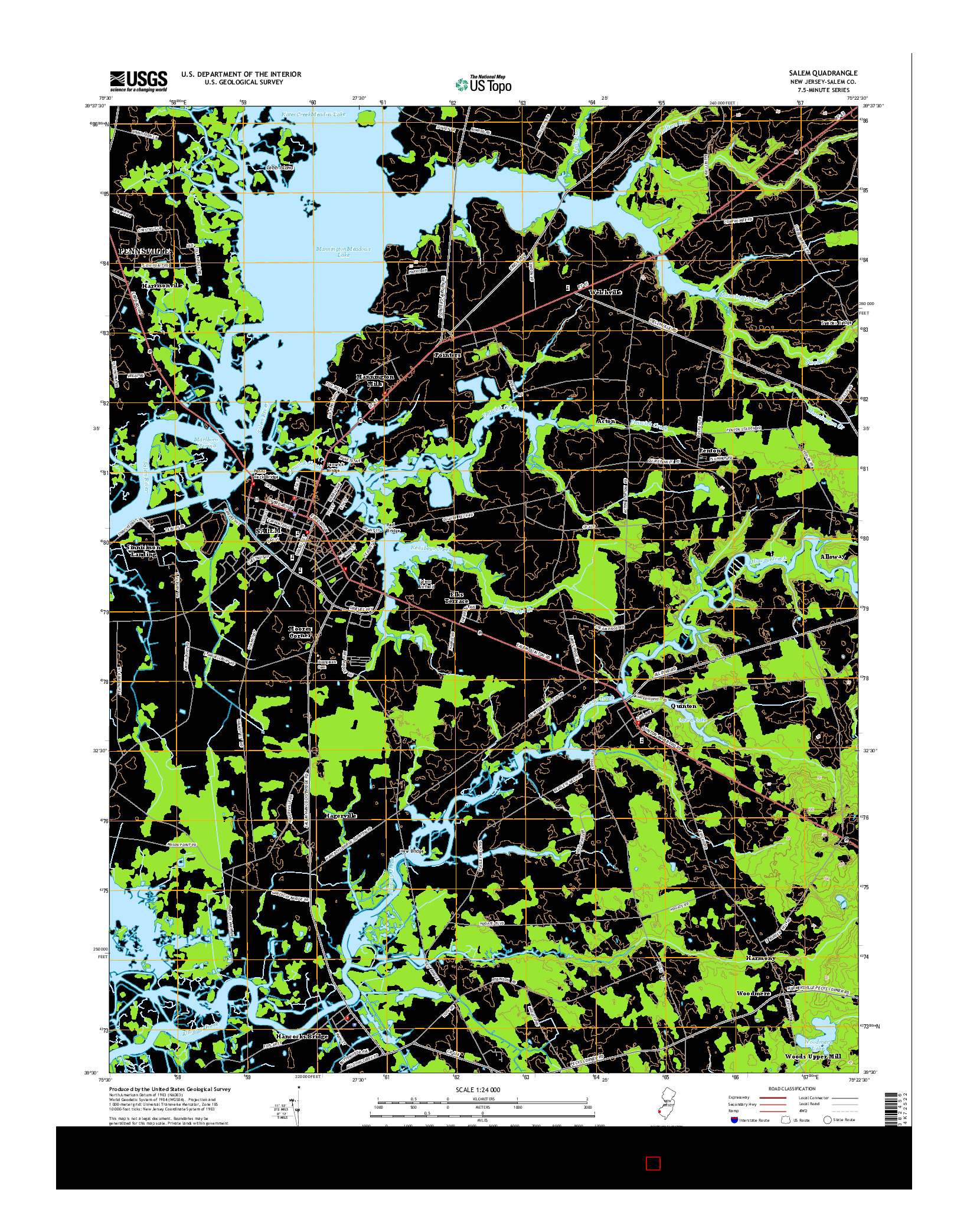 USGS US TOPO 7.5-MINUTE MAP FOR SALEM, NJ 2014