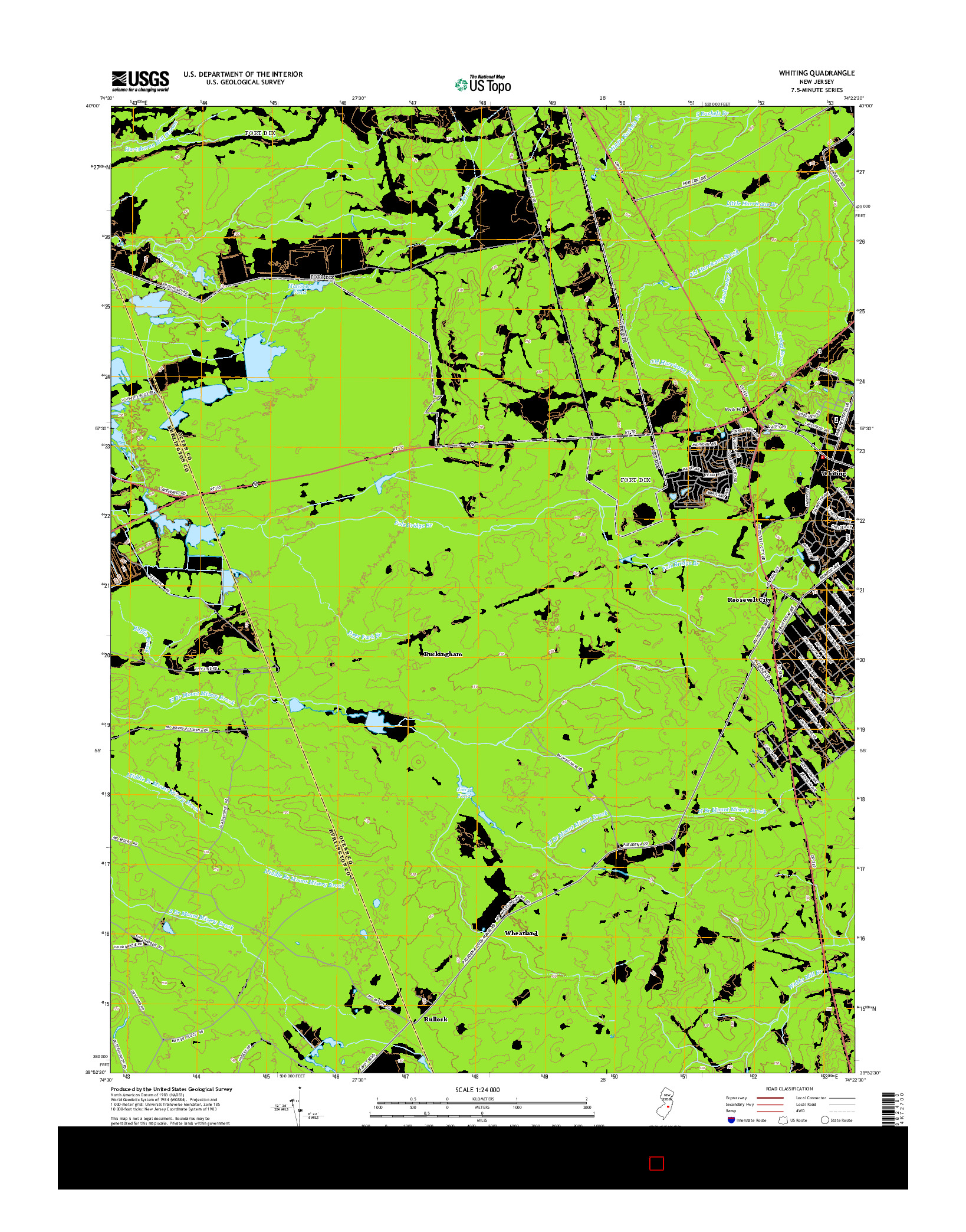 USGS US TOPO 7.5-MINUTE MAP FOR WHITING, NJ 2014
