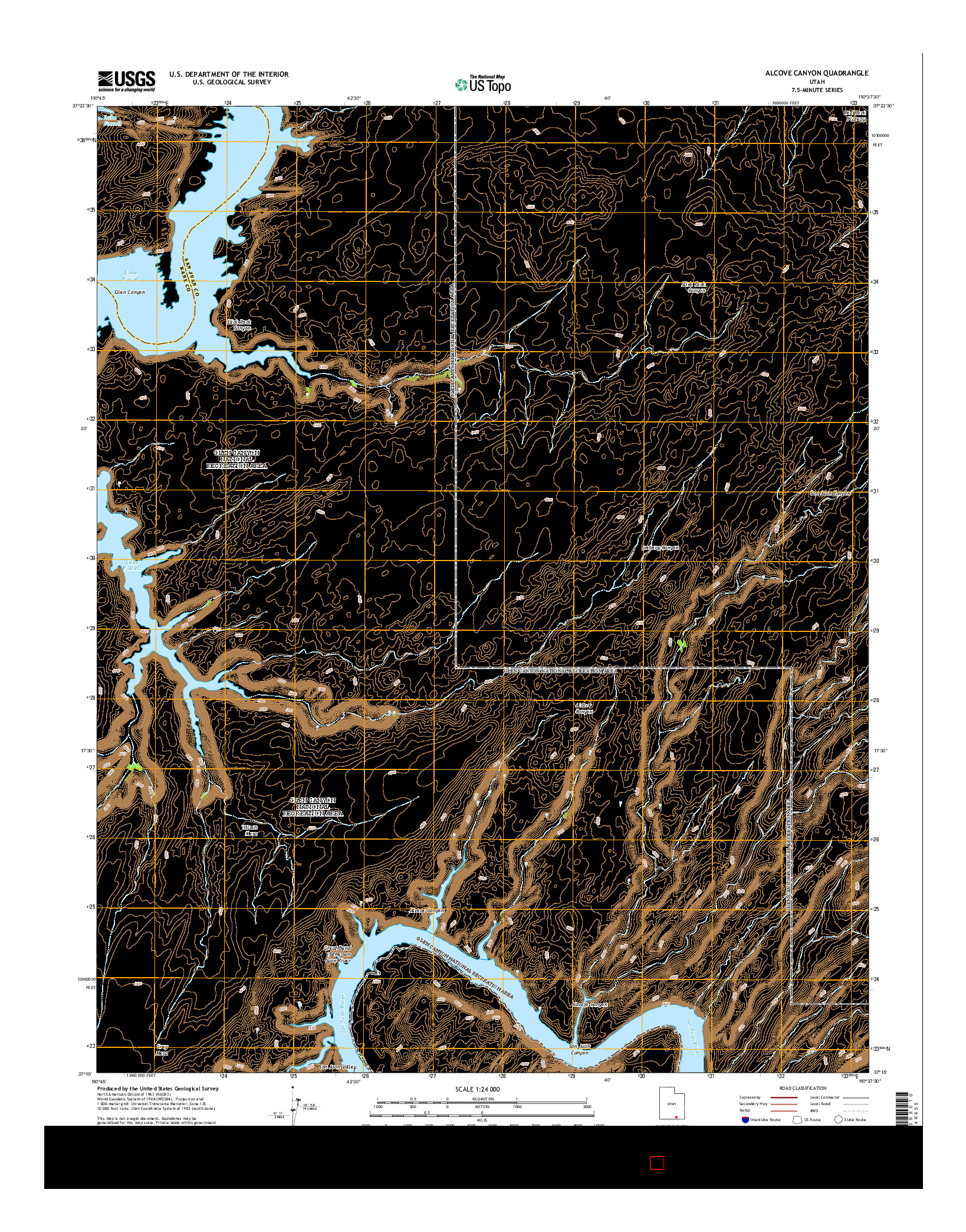 USGS US TOPO 7.5-MINUTE MAP FOR ALCOVE CANYON, UT 2014