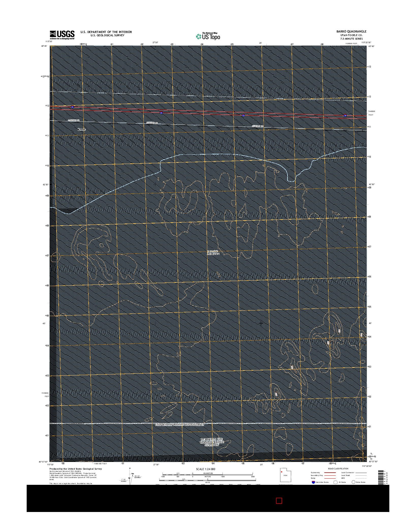 USGS US TOPO 7.5-MINUTE MAP FOR BARRO, UT 2014