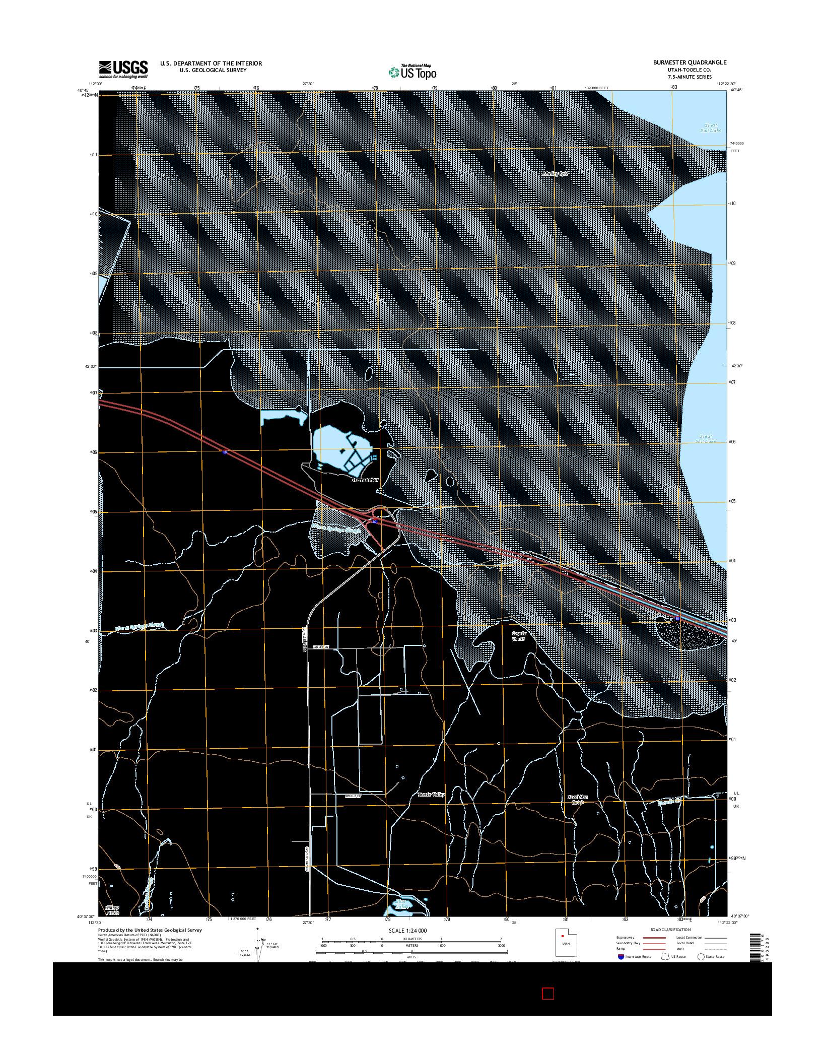 USGS US TOPO 7.5-MINUTE MAP FOR BURMESTER, UT 2014