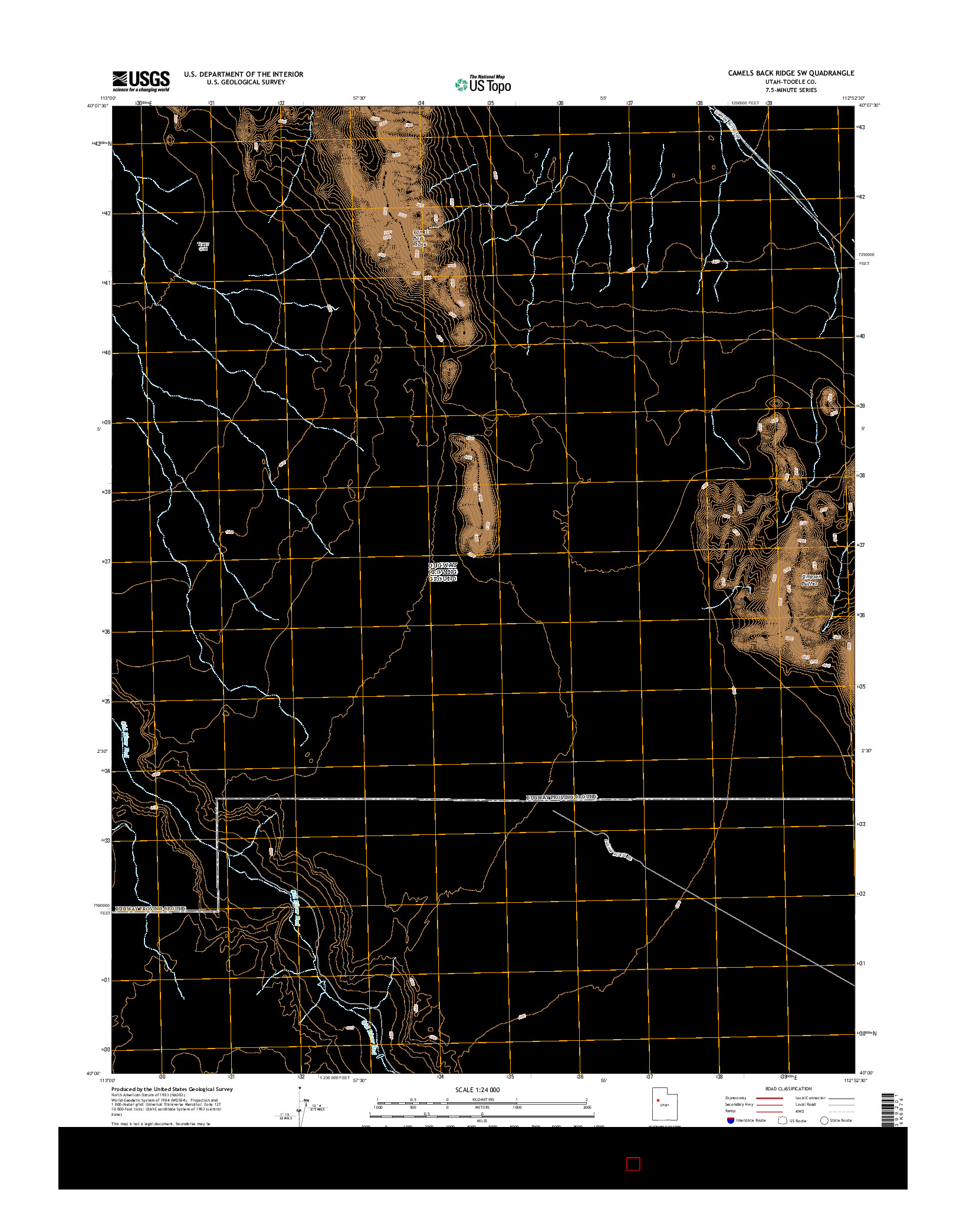 USGS US TOPO 7.5-MINUTE MAP FOR CAMELS BACK RIDGE SW, UT 2014