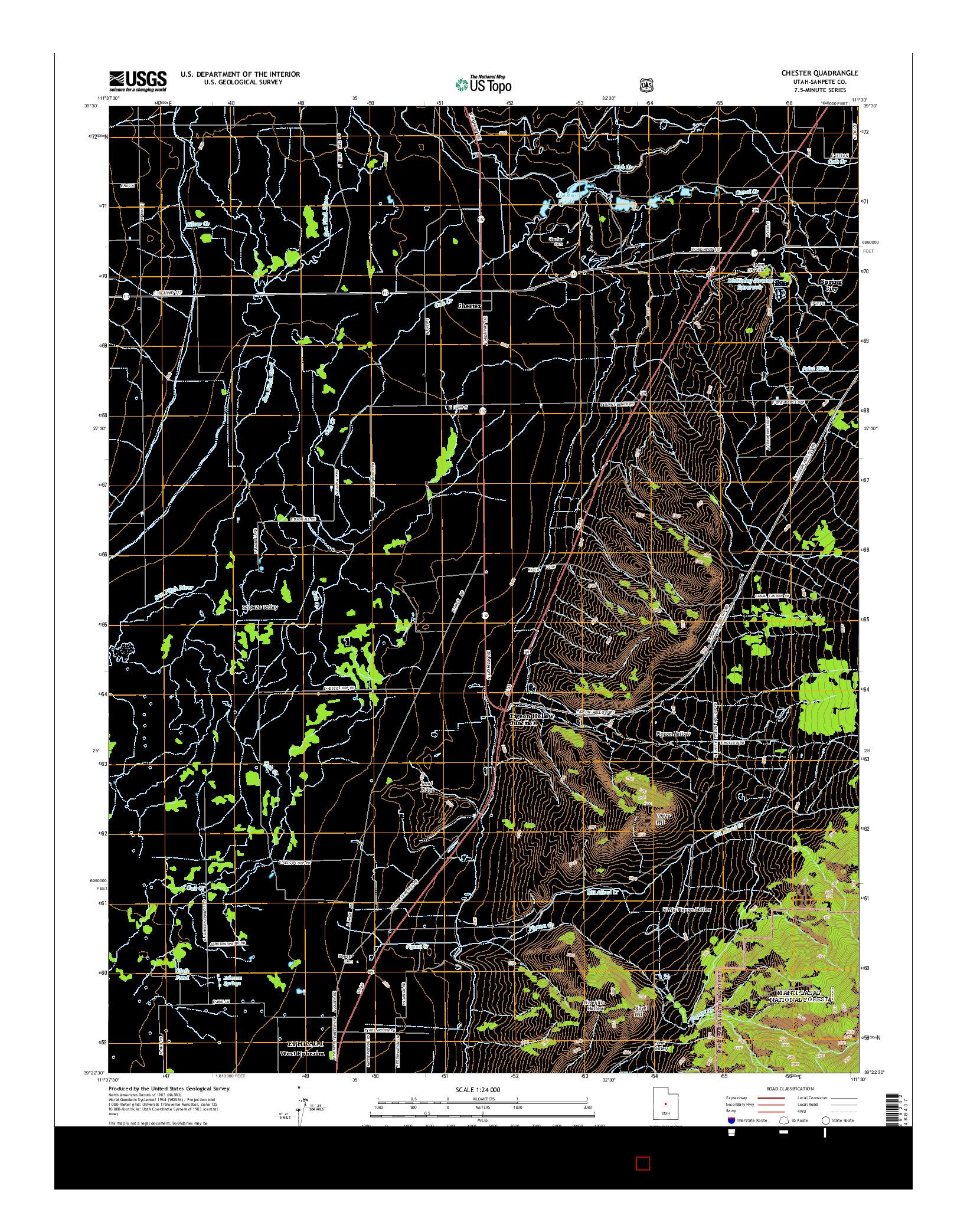 USGS US TOPO 7.5-MINUTE MAP FOR CHESTER, UT 2014