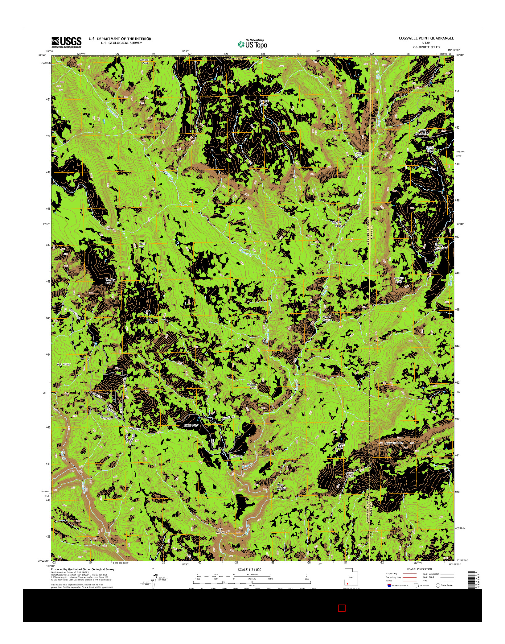 USGS US TOPO 7.5-MINUTE MAP FOR COGSWELL POINT, UT 2014