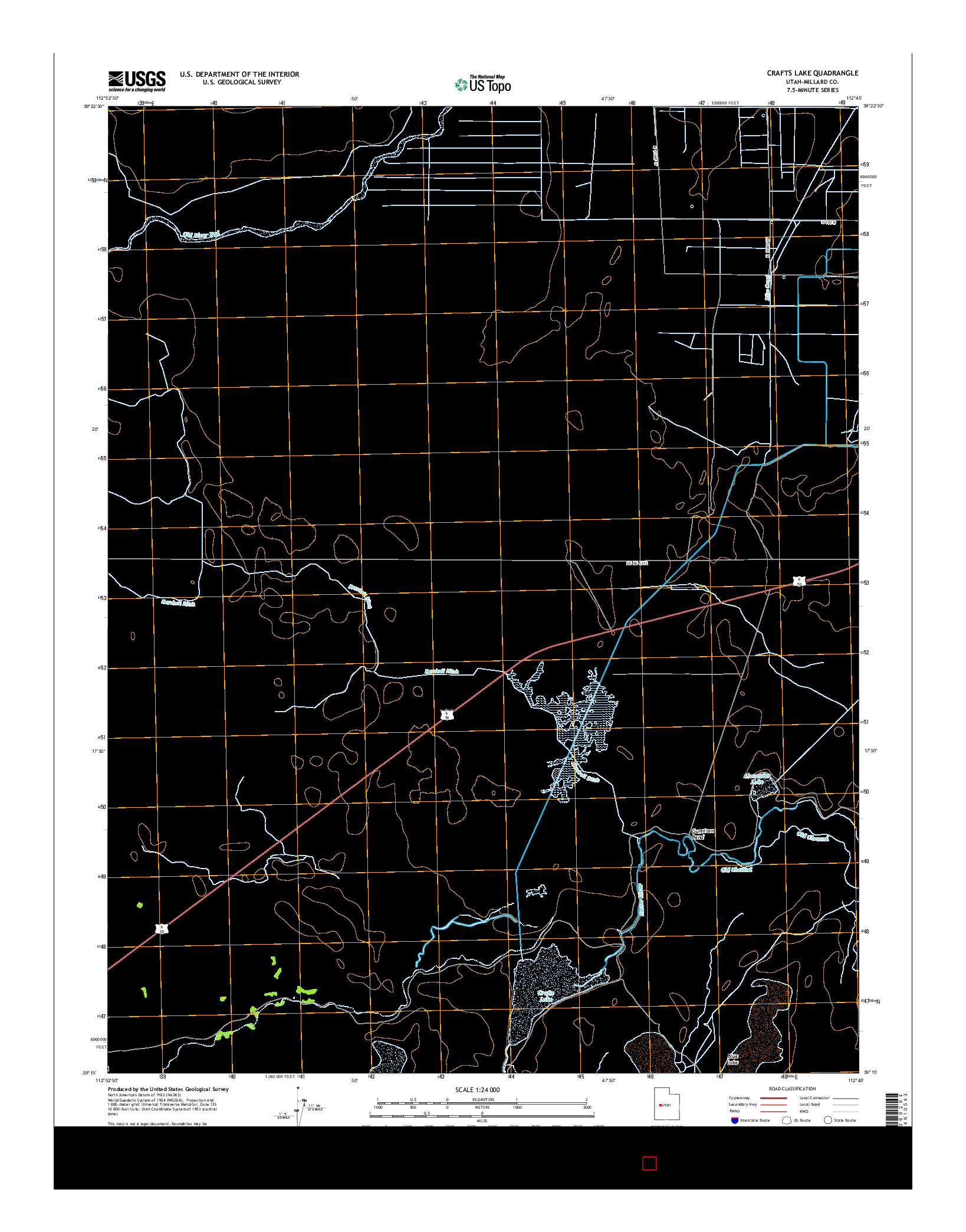 USGS US TOPO 7.5-MINUTE MAP FOR CRAFTS LAKE, UT 2014